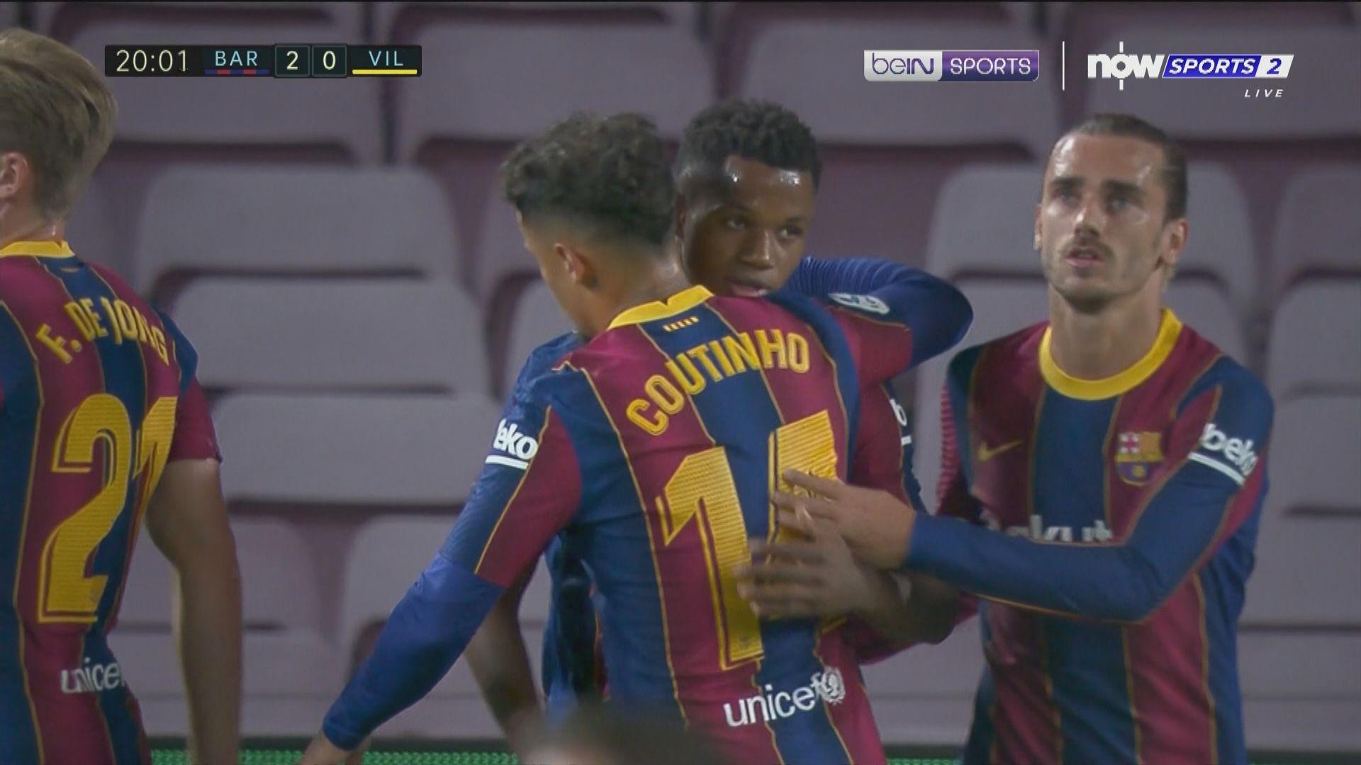 西甲 巴塞羅那 4:0 維拉利爾