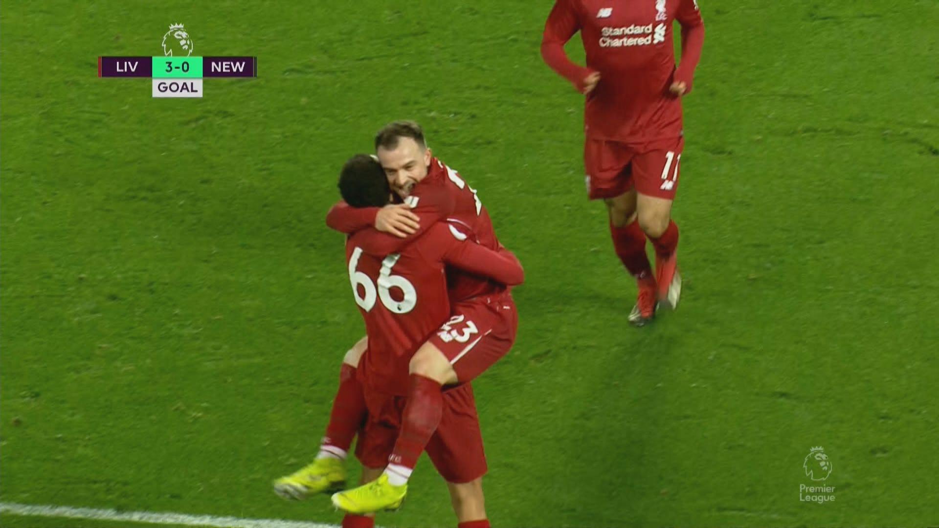 英超 利物浦4:0紐卡素
