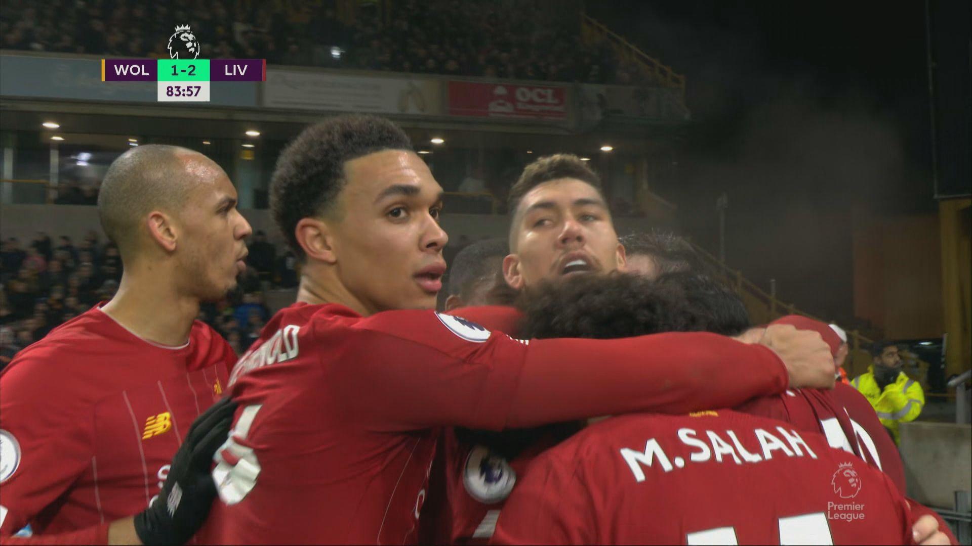英超 狼隊1:2利物浦