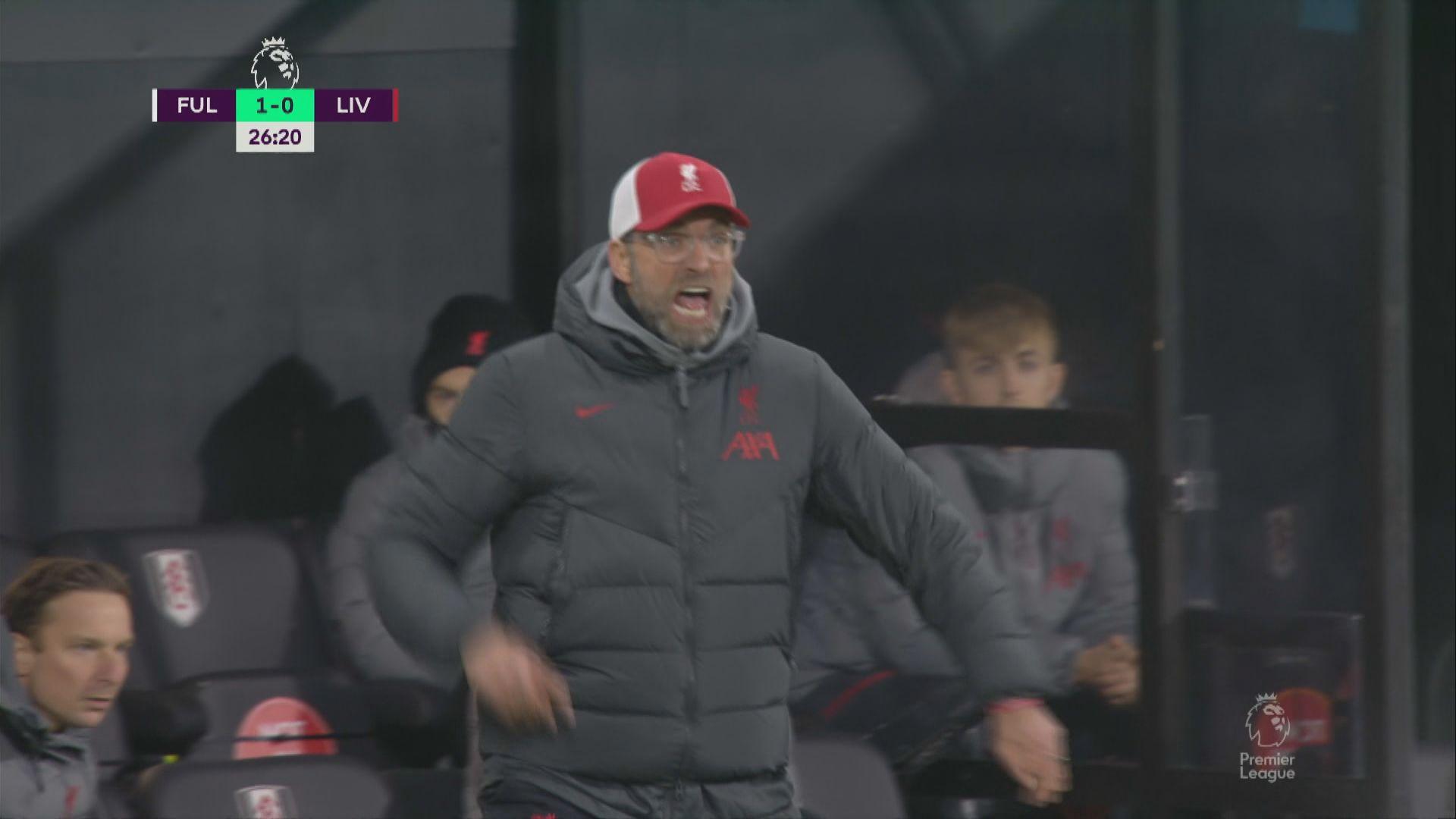 英超 富咸1:1利物浦