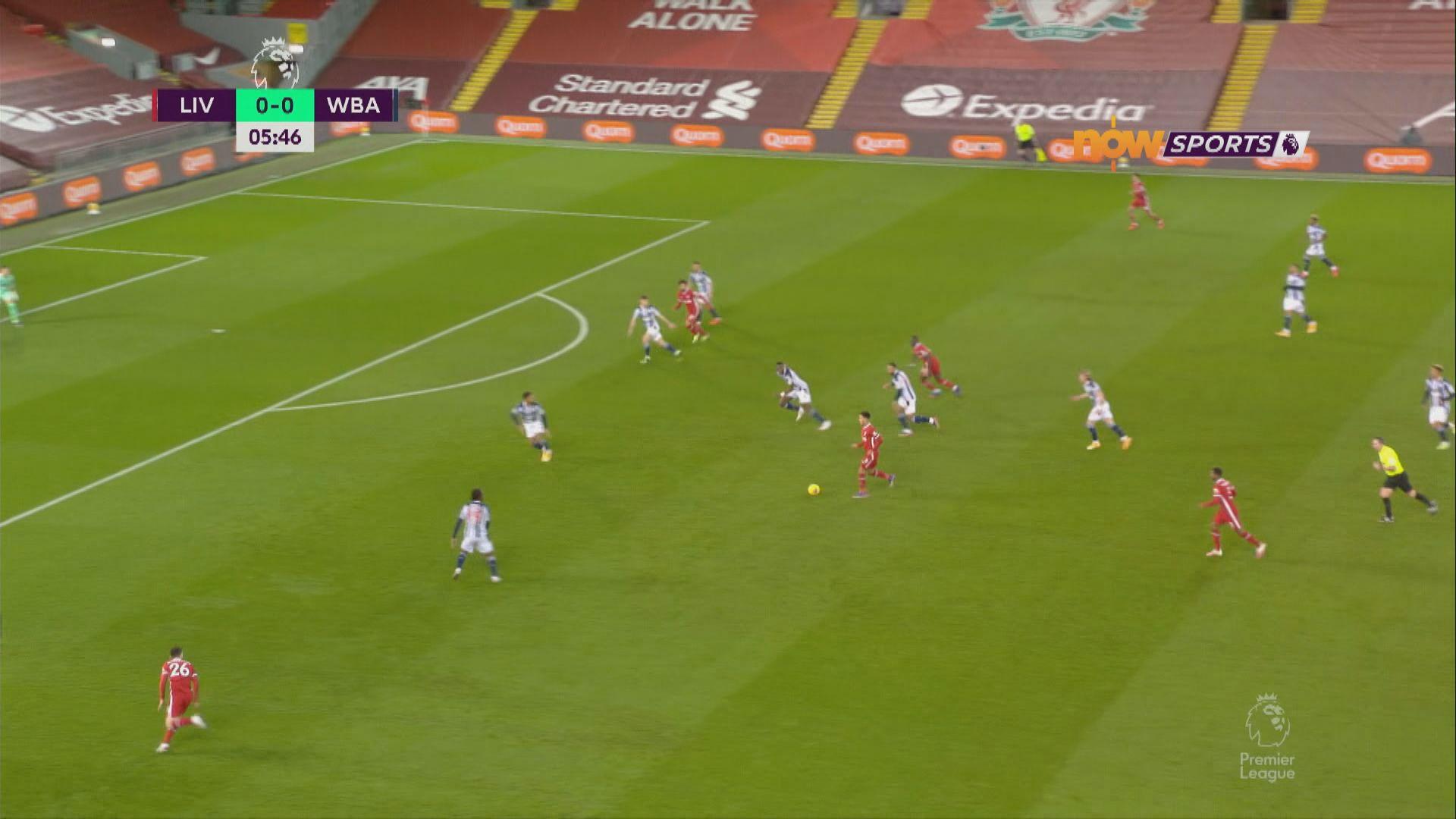 英超 利物浦1:1西布朗