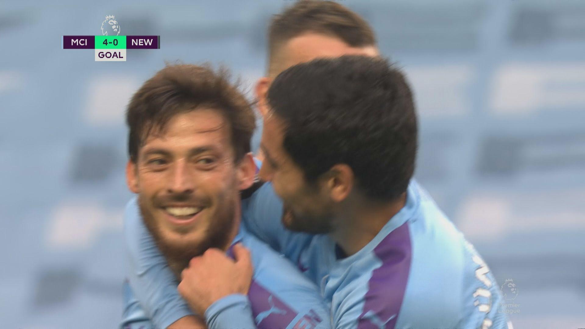 英超:曼城 5:0 紐卡素、白禮頓 1:3 利物浦