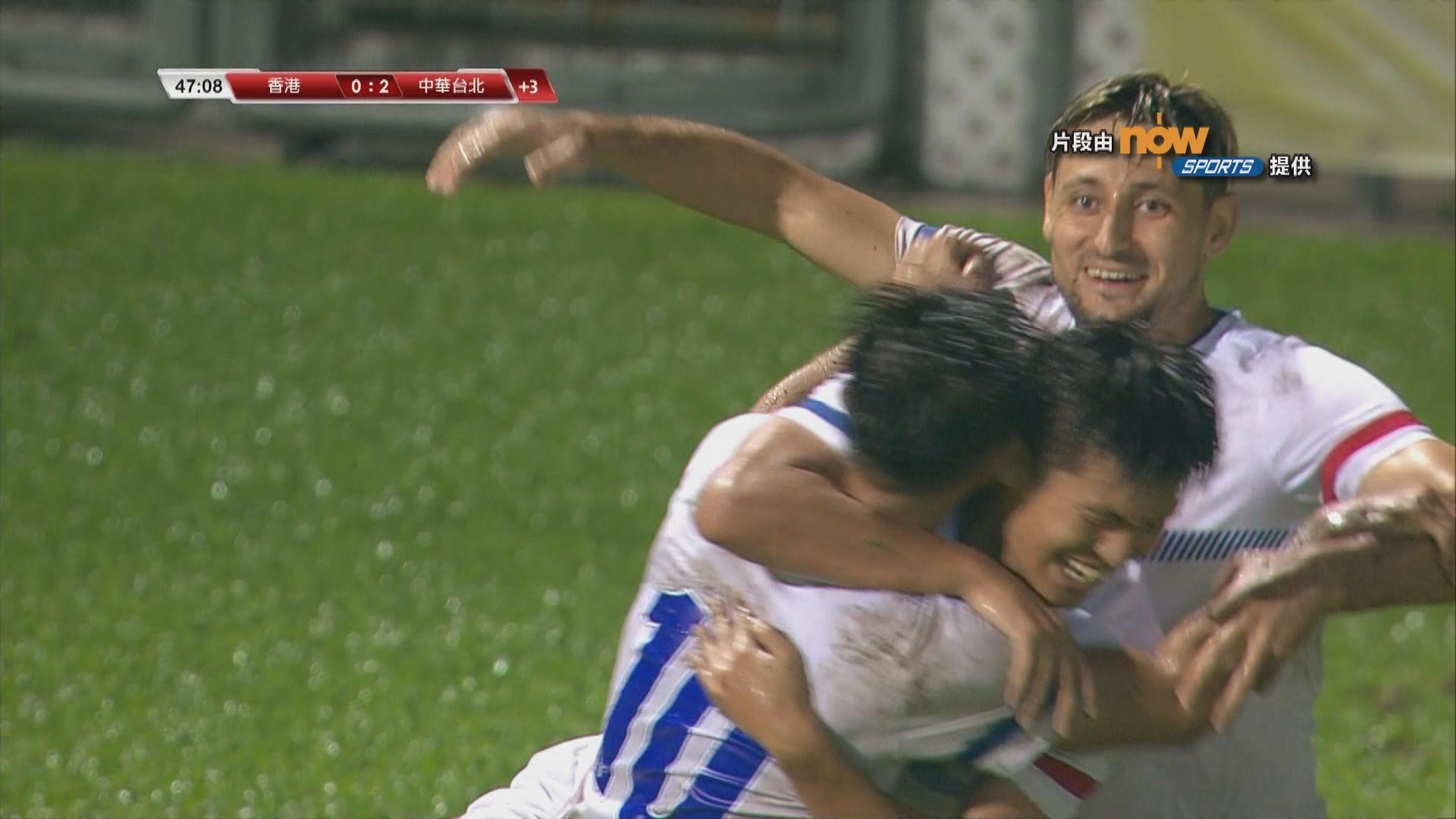足球友誼賽 香港0:2中華台北