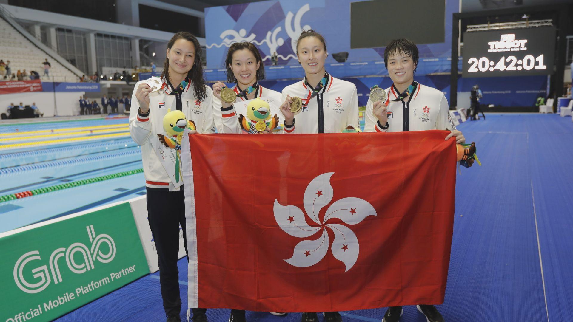 港隊奪女子自由式接力銅牌
