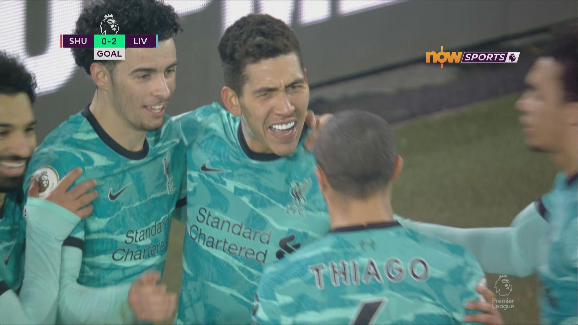 英超 錫菲聯0:2利物浦