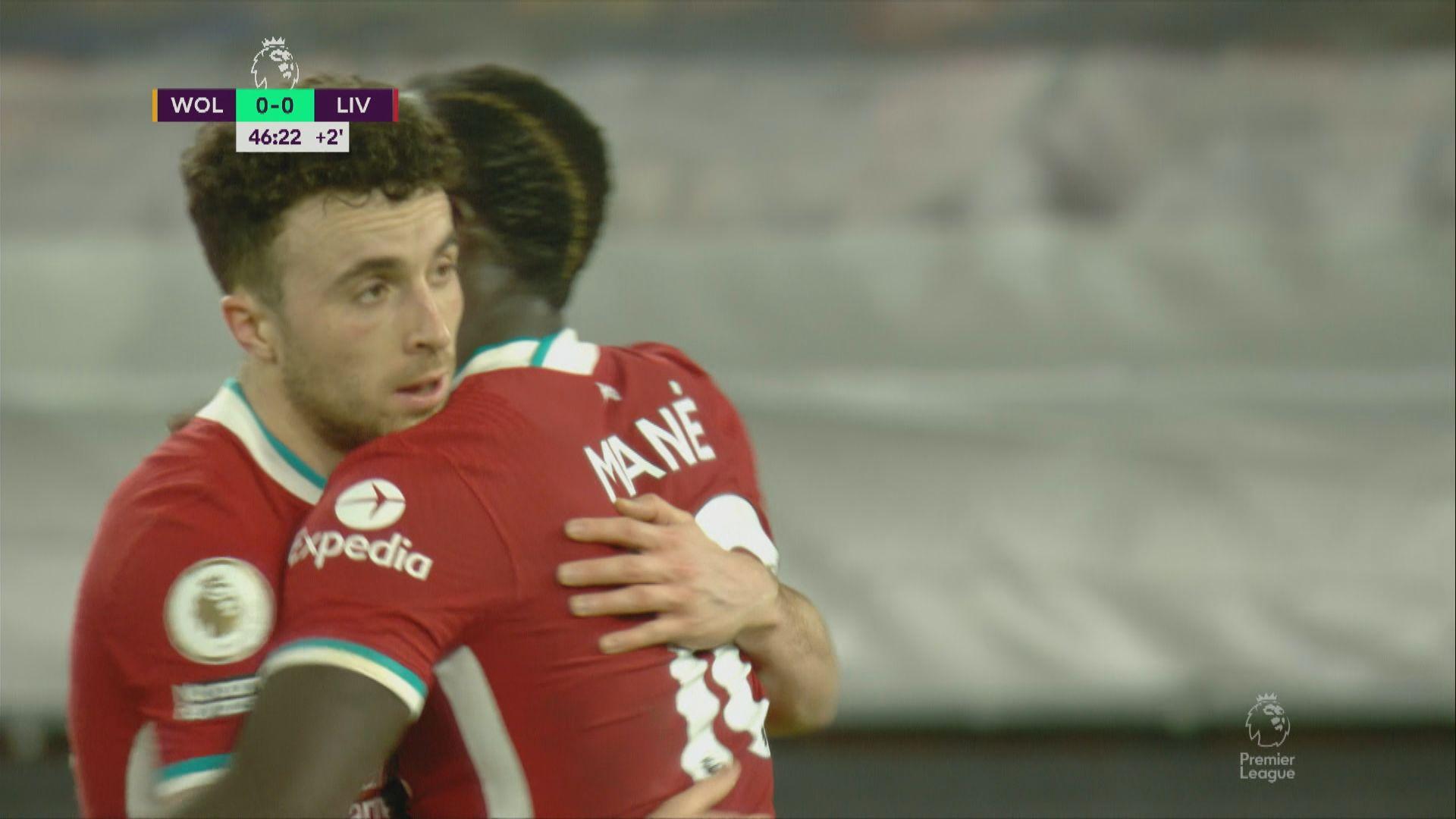 英超 狼隊0:1利物浦