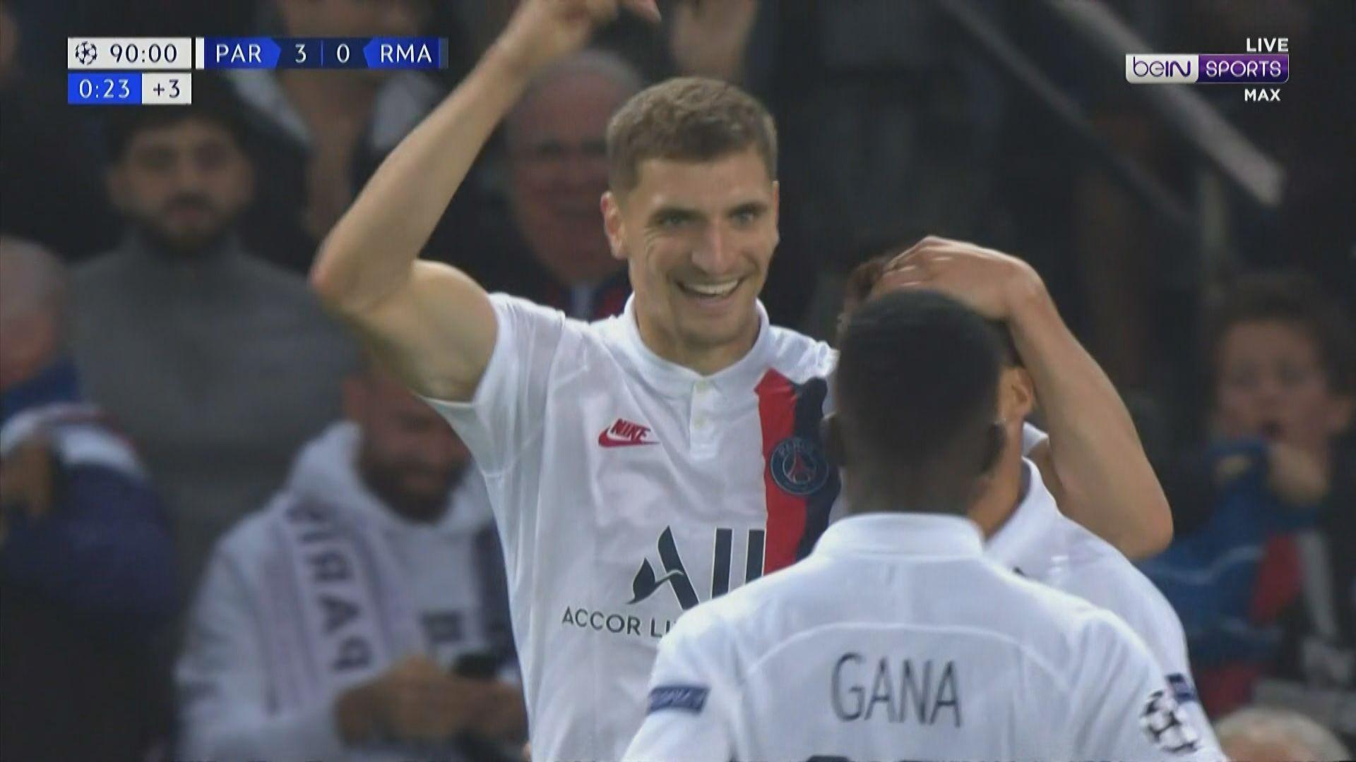 歐聯 巴黎聖日耳門3:0皇家馬德里
