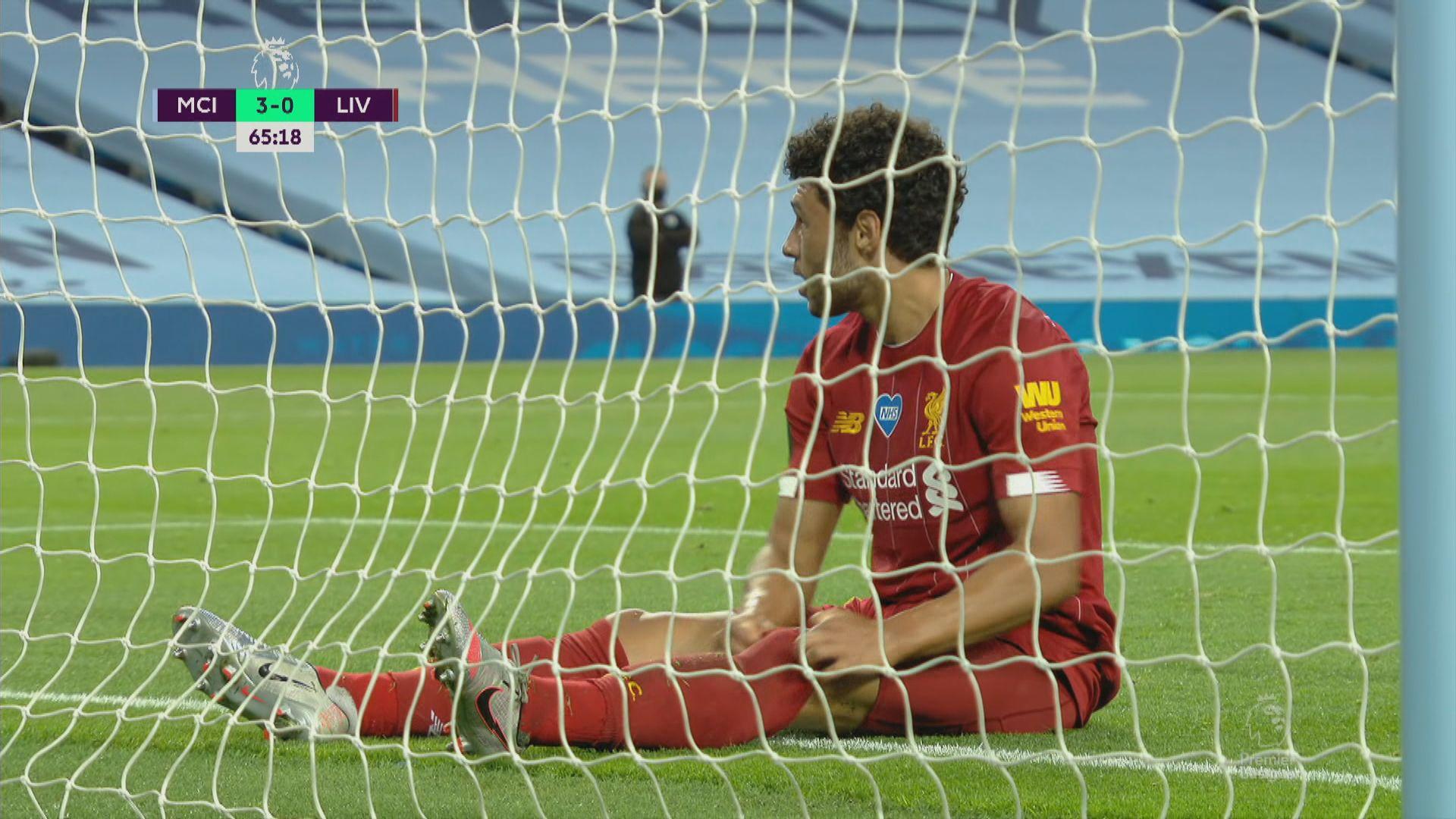英超 曼城4:0利物浦