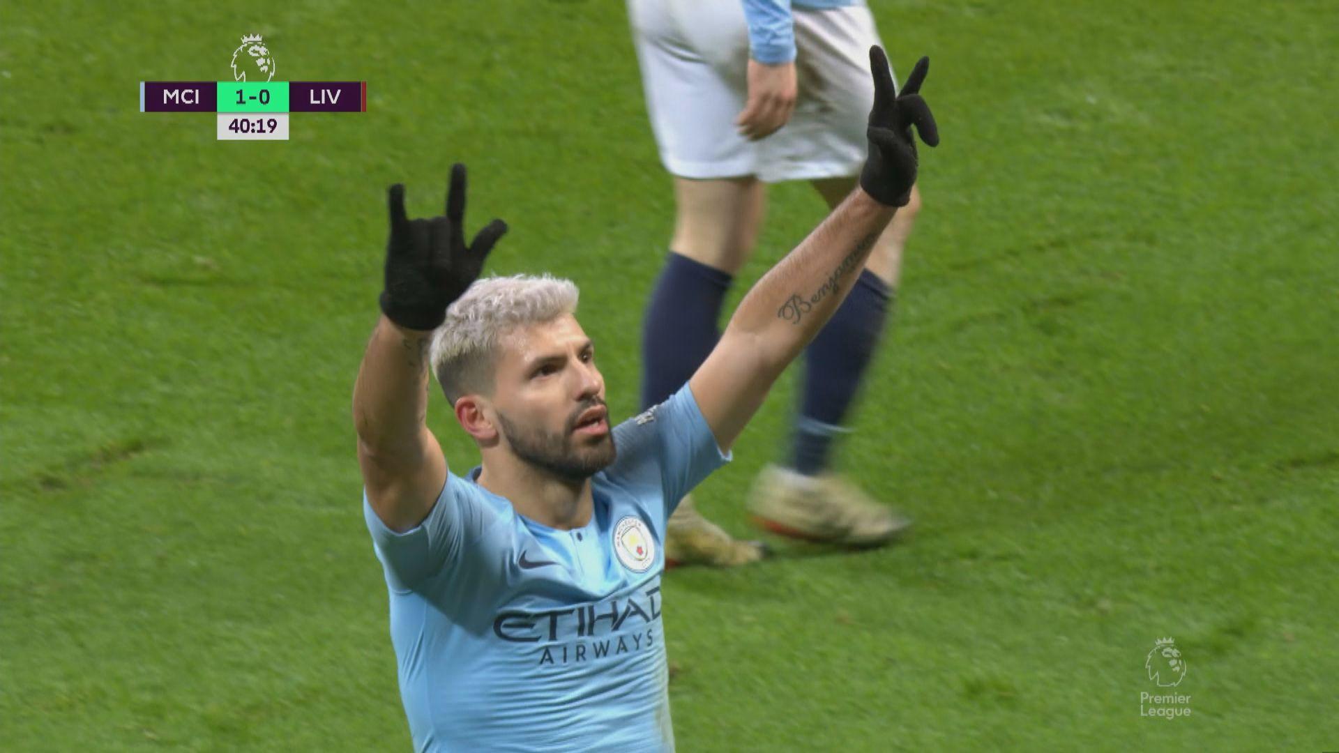 英超 曼城2:1利物浦