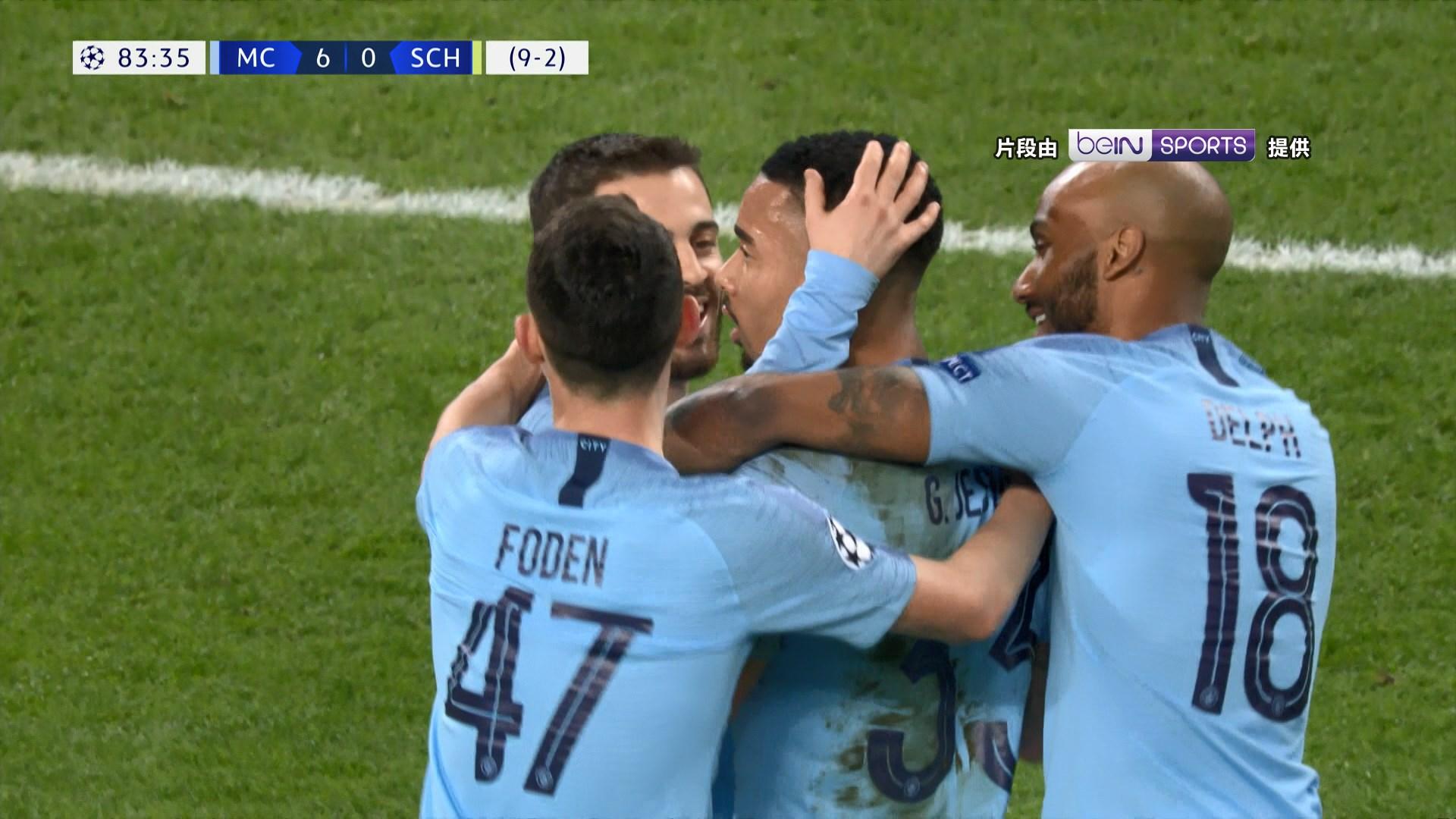 歐聯16強 曼城7:0史浩克04晉級八強