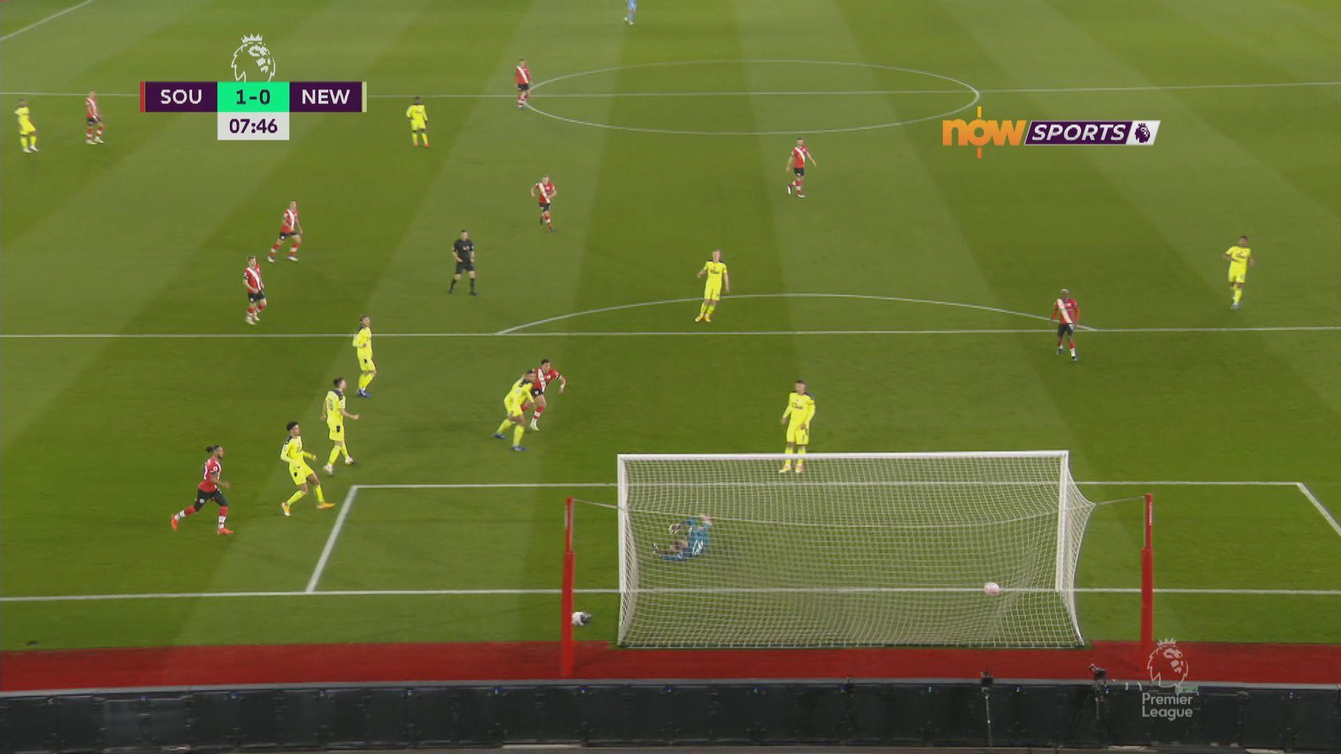 英超 修咸頓2:0紐卡素