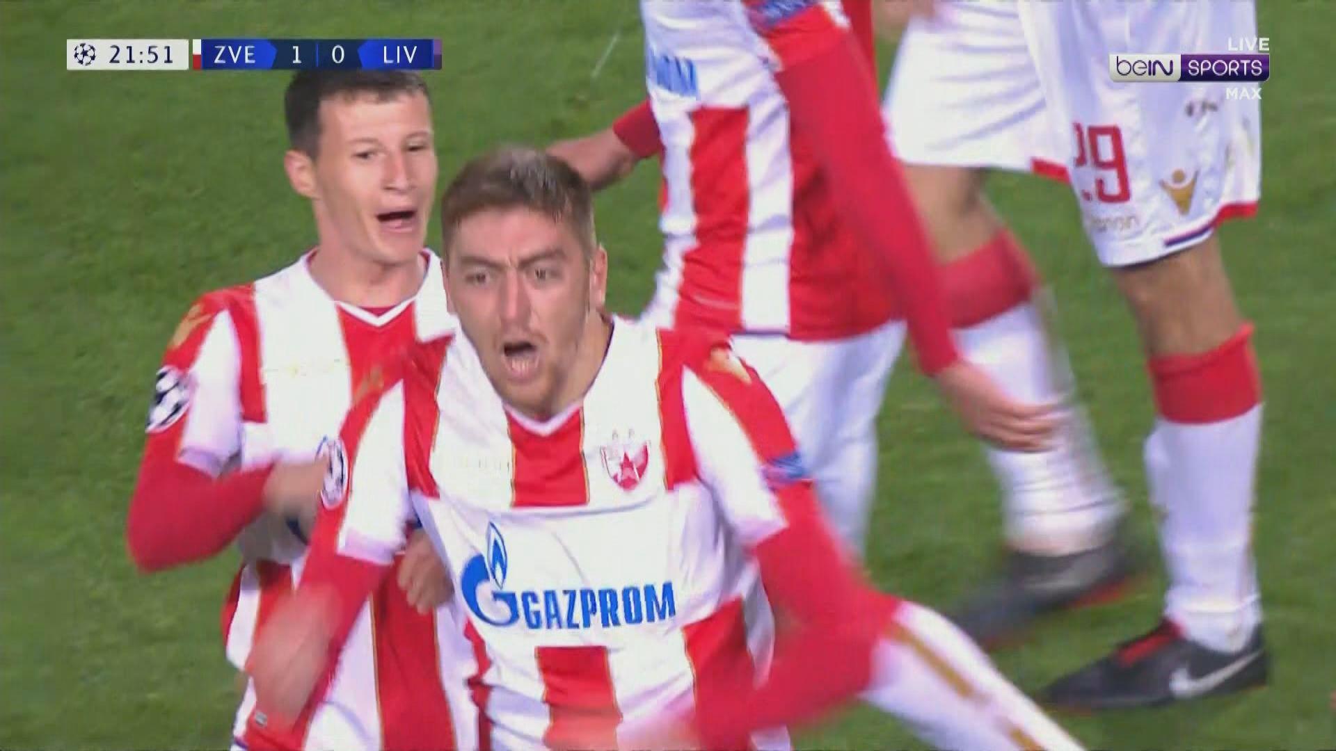 歐聯C組 貝爾格萊德紅星2:0利物浦