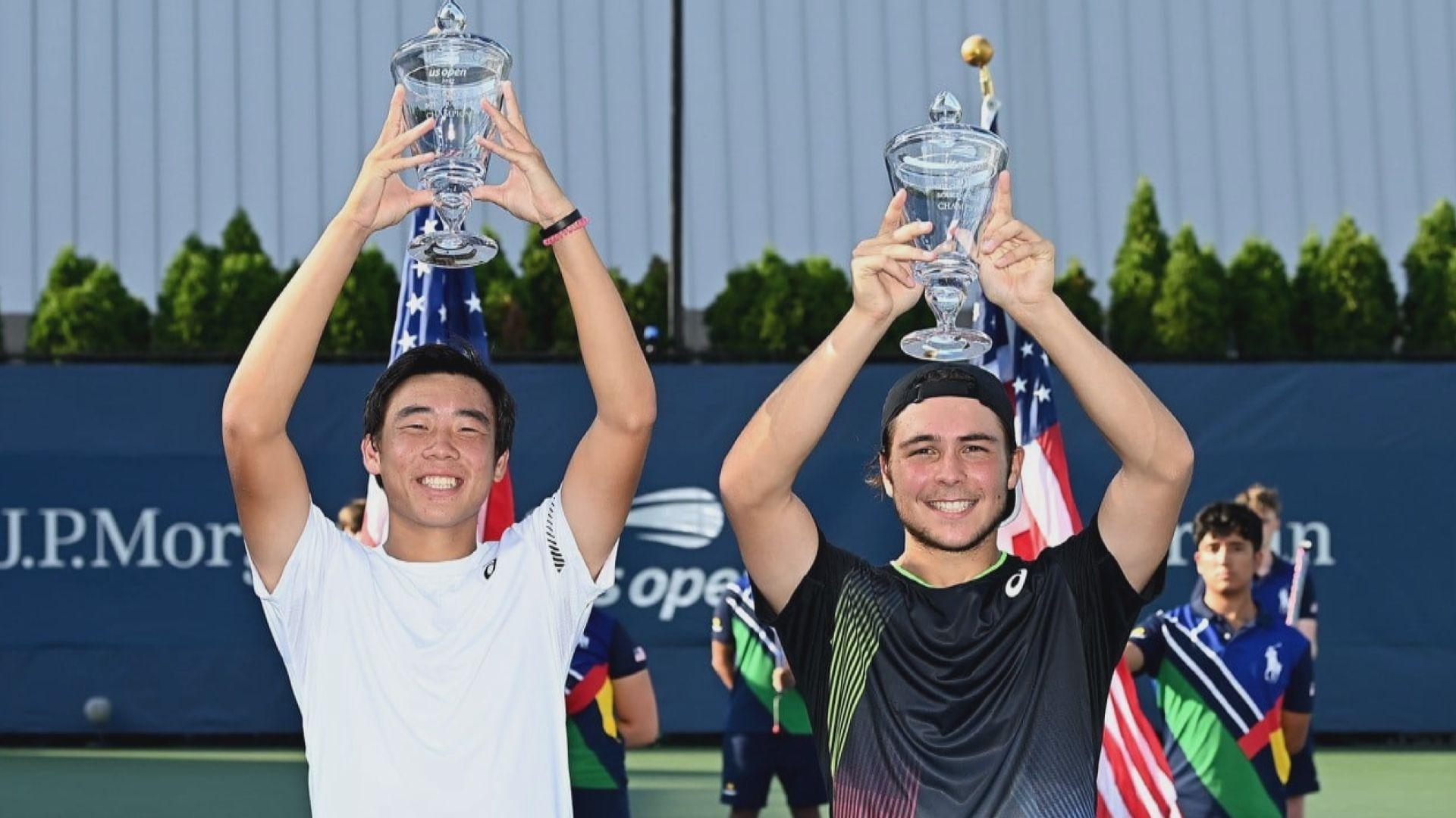 黃澤林贏得美網青年組男雙冠軍
