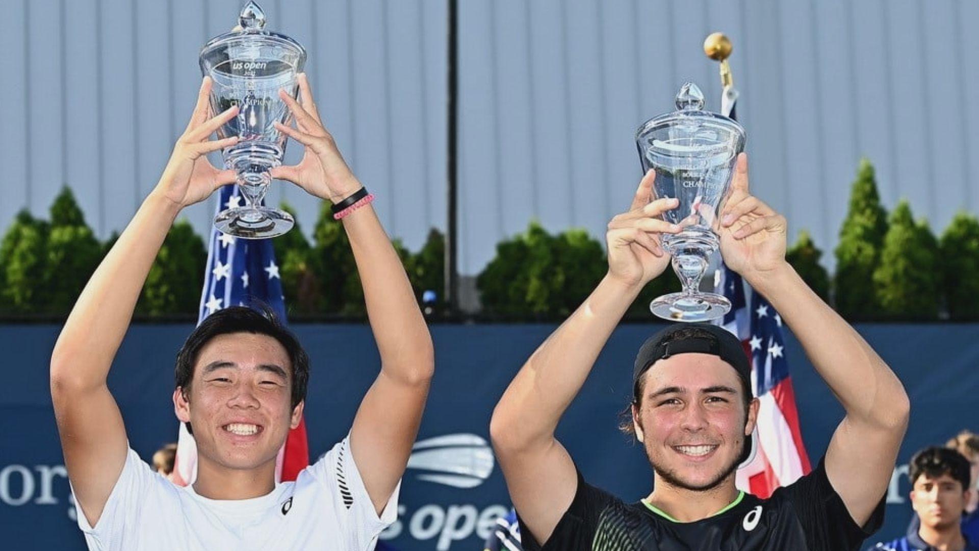 黃澤林贏得美網青年組男雙冠軍 感謝網總安排教練