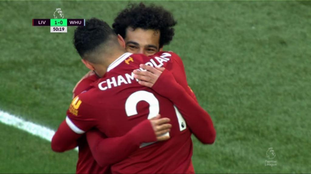 英超 利物浦4:1韋斯咸
