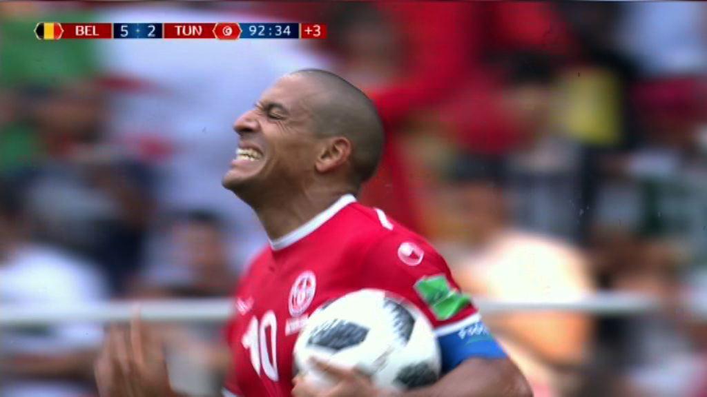 世界盃G組 比利時 5:2 突尼斯