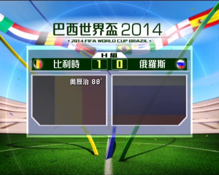 世界盃H組 比利時小將定勝局