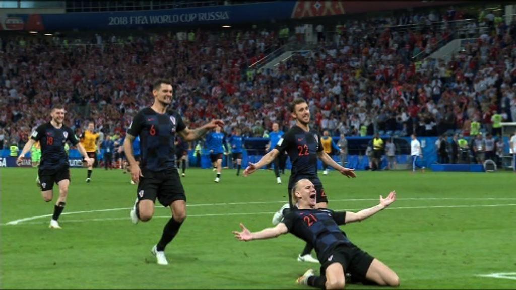 世界盃八強 克羅地亞互射十二碼淘汰俄羅斯