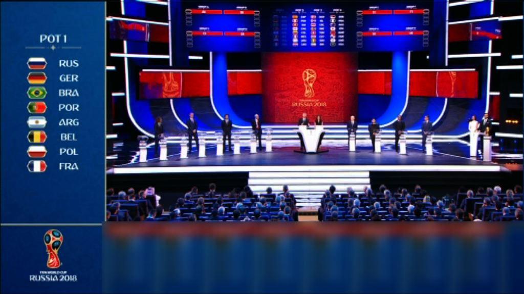 俄羅斯世界盃決賽周 分組賽抽籤出爐