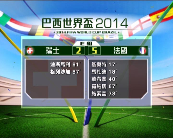 世界盃E組 法國大勝瑞士五比二