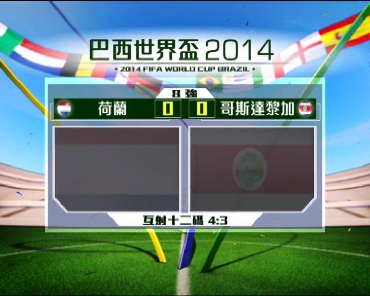 世界盃八強:荷蘭擊敗哥斯達黎加