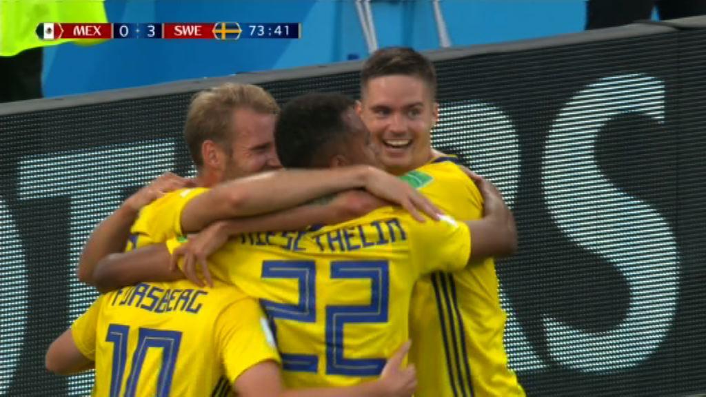 世界盃F組 墨西哥 0:3 瑞典