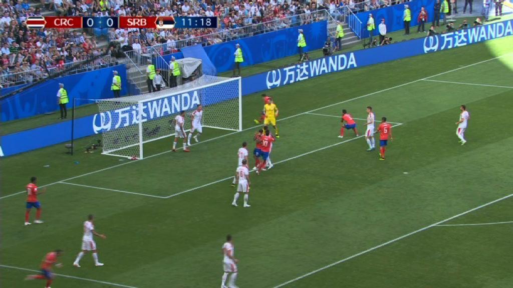 世界盃E組 哥斯達黎加塞爾維亞半場平手