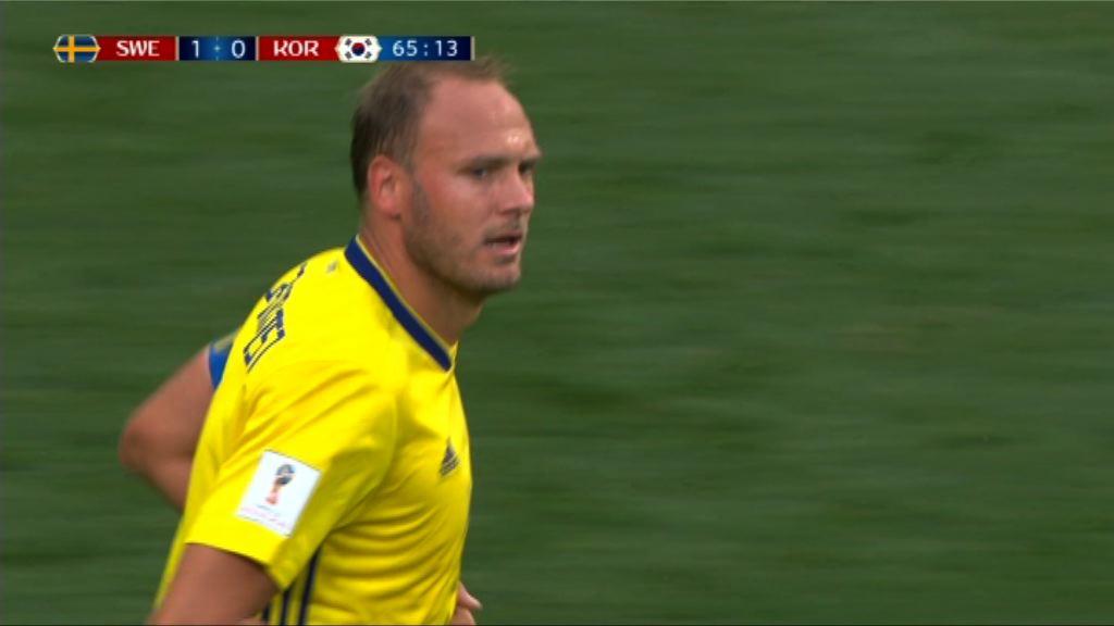 世界盃F組 瑞典1:0南韓