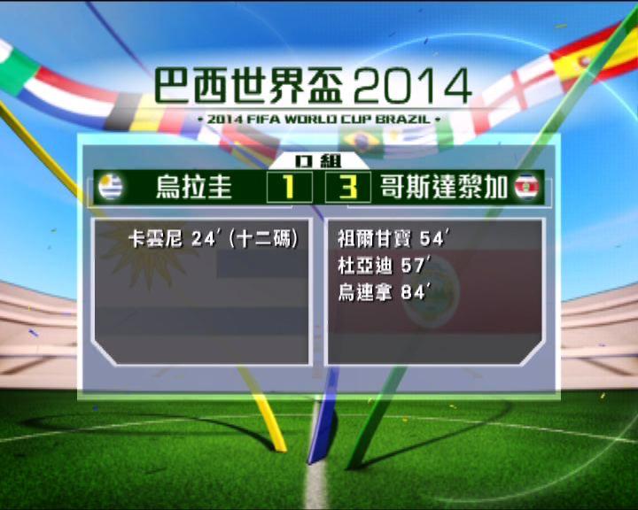 世界盃:烏拉圭 1:3 哥斯達黎加