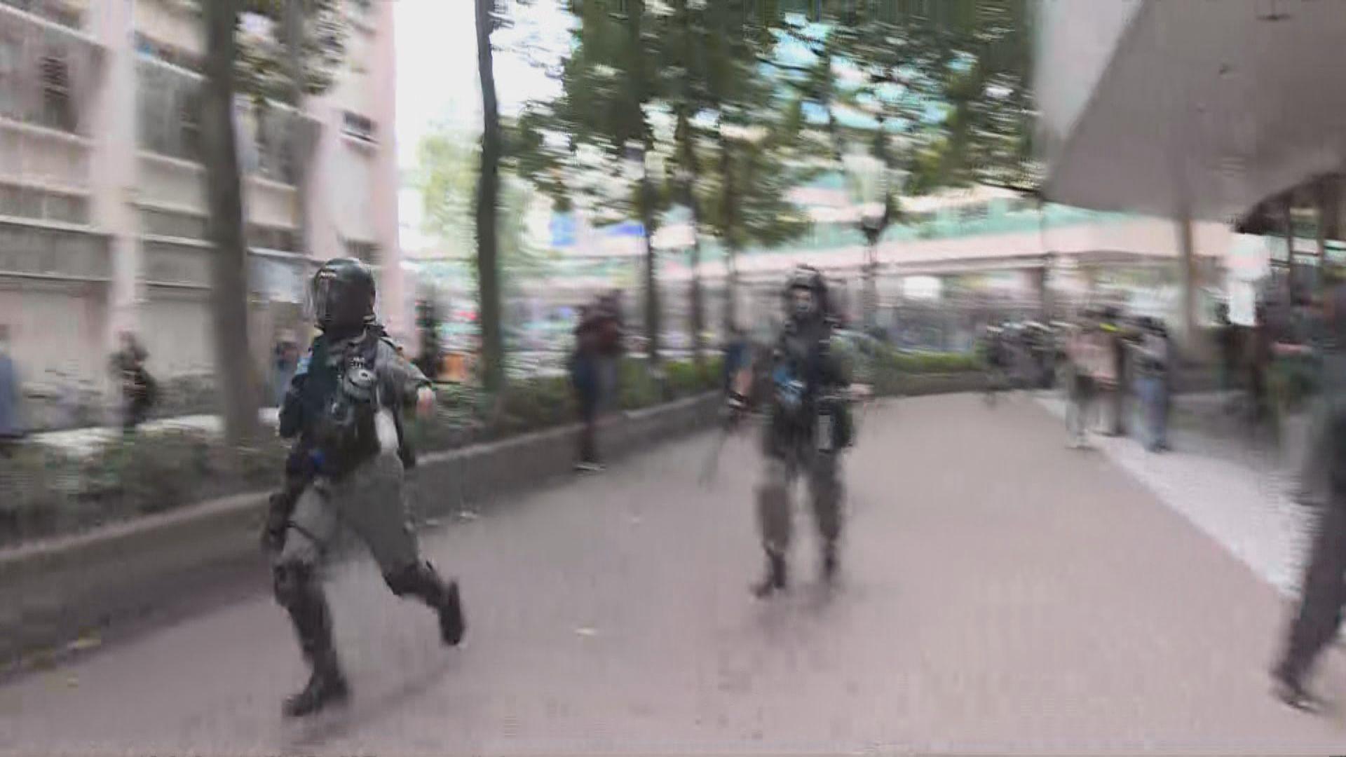 警方稱上水遊行結束後驅散在場人士制服多人