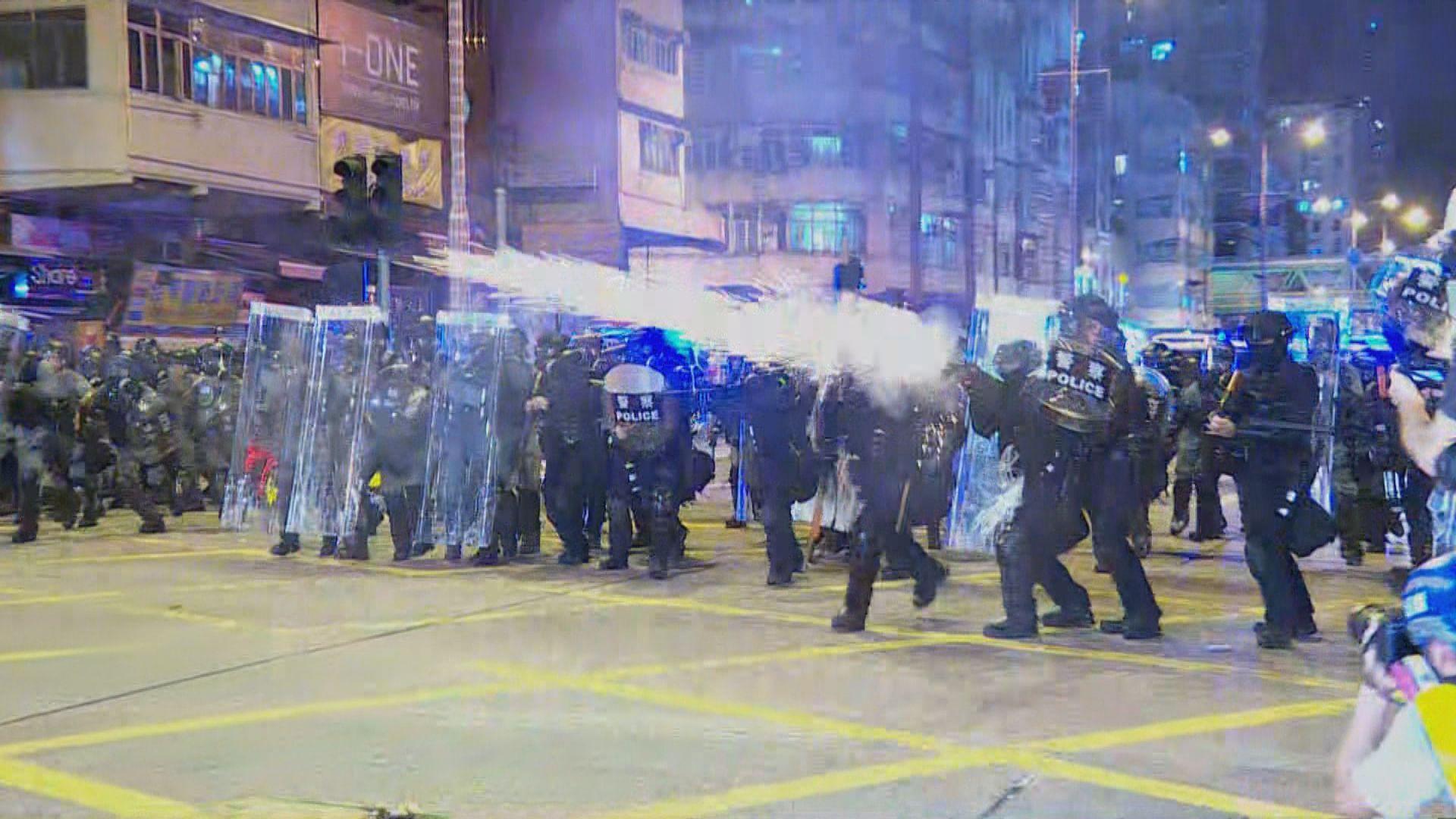 警方深水埗發射橡膠子彈等拘捕示威者