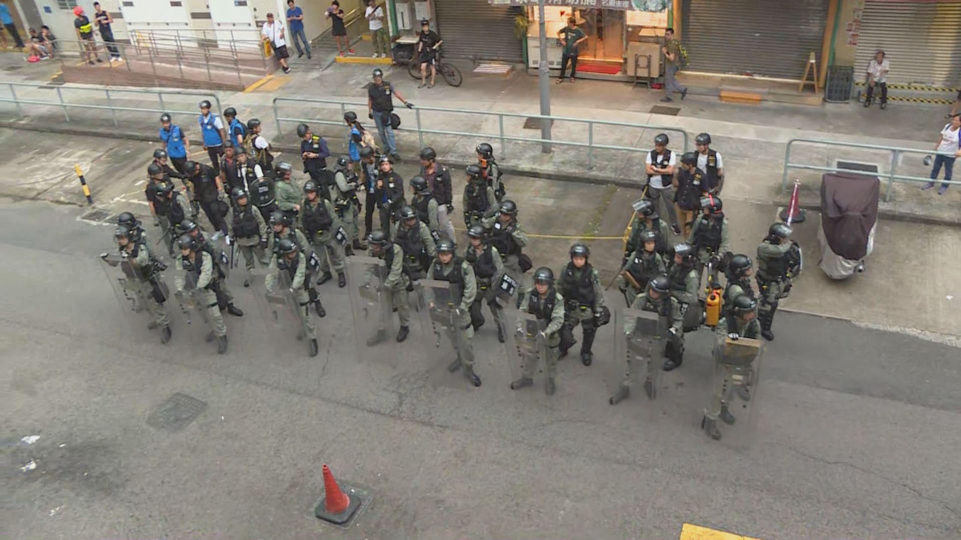 【沙田遊行】警員在瀝源邨戒備為清場準備