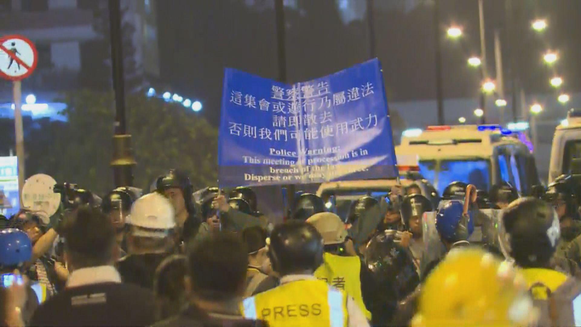 【沙田遊行】防暴警察在沙燕橋清場