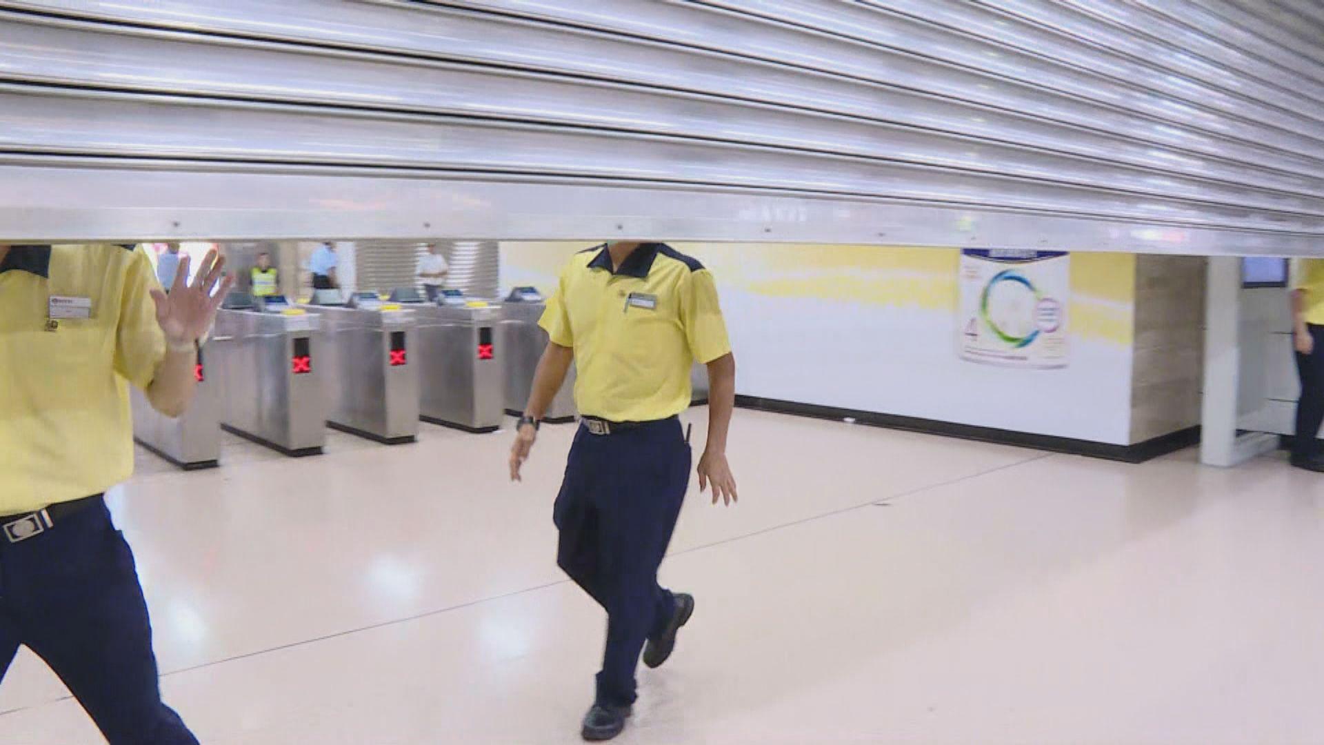 沙田站有青年疑跳閘後被打 港鐵關閉車站