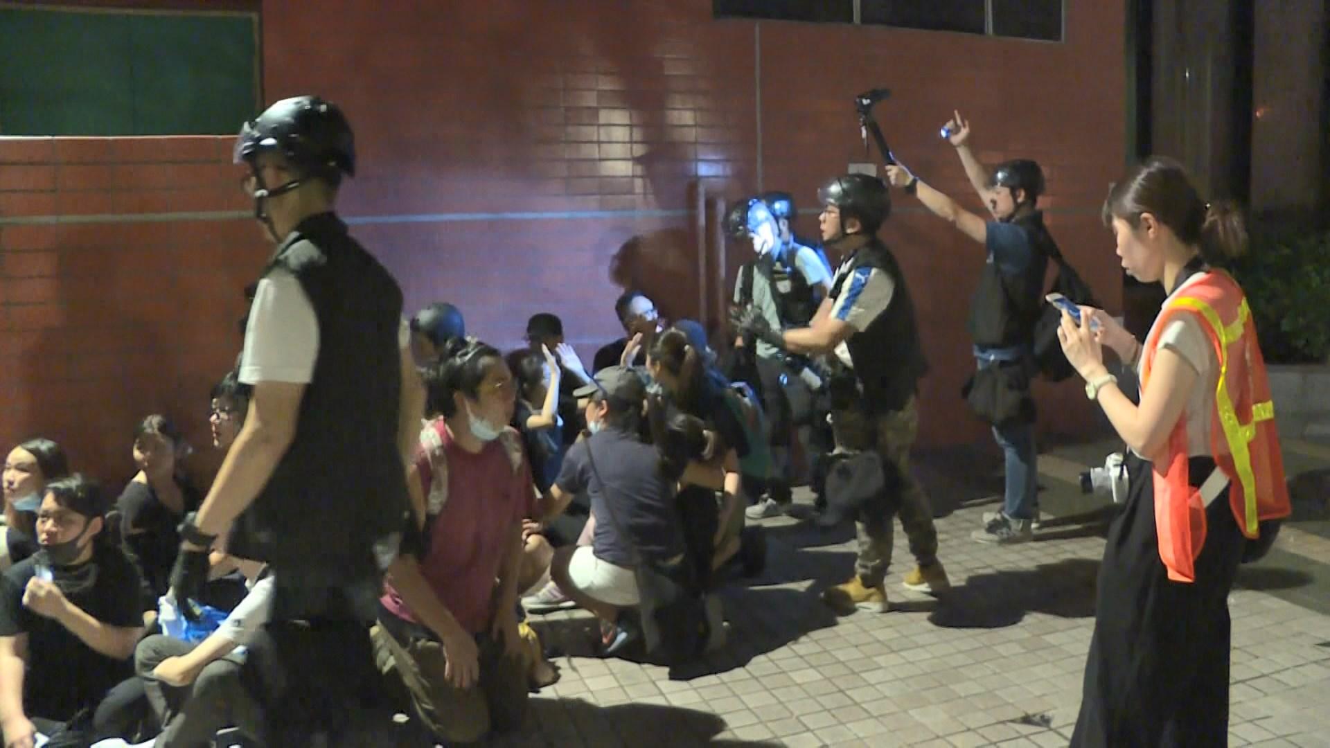 沙田警民衝突 最少33人涉非法集結被捕