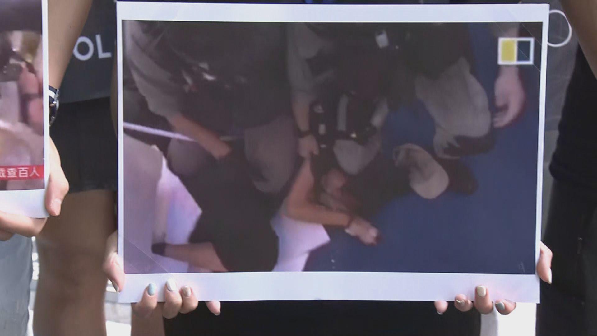 中五女生報稱612一周年晚上被捕時遭警壓頸感頭暈