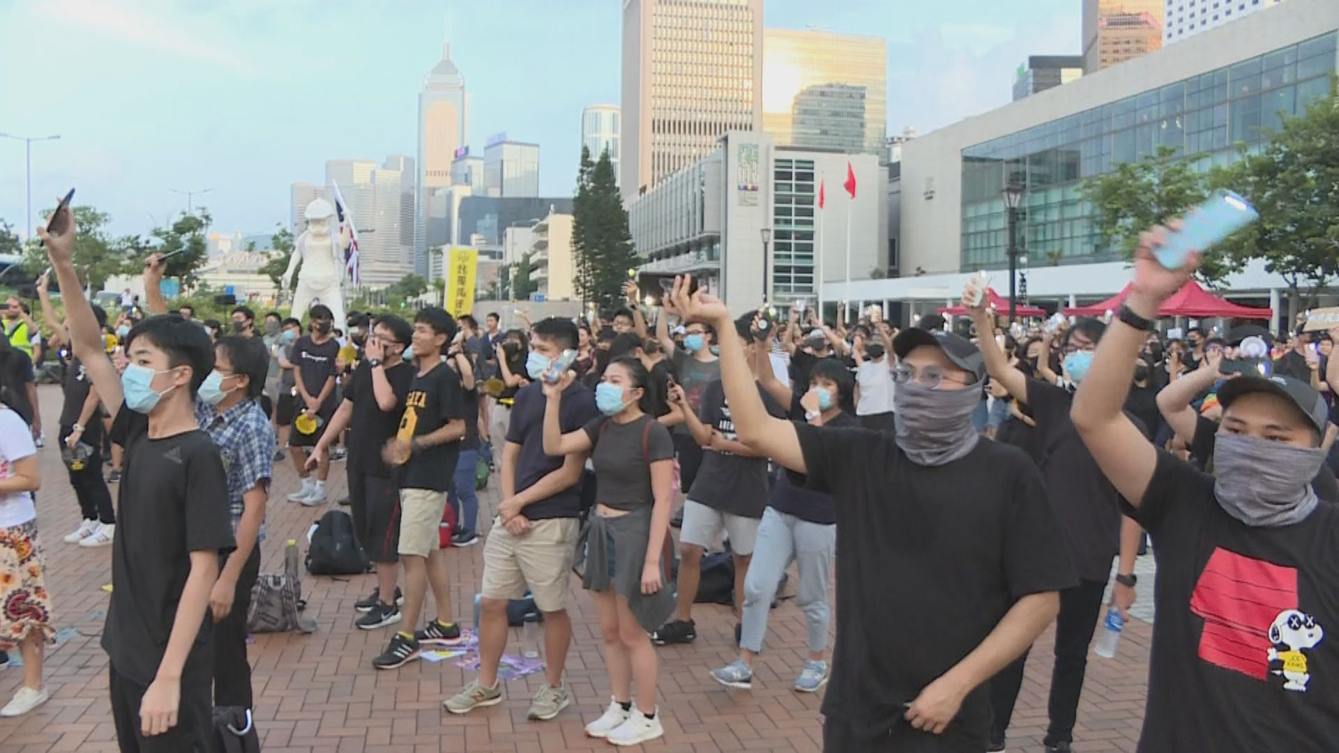 中環中學生集會 大會表示約500人參與