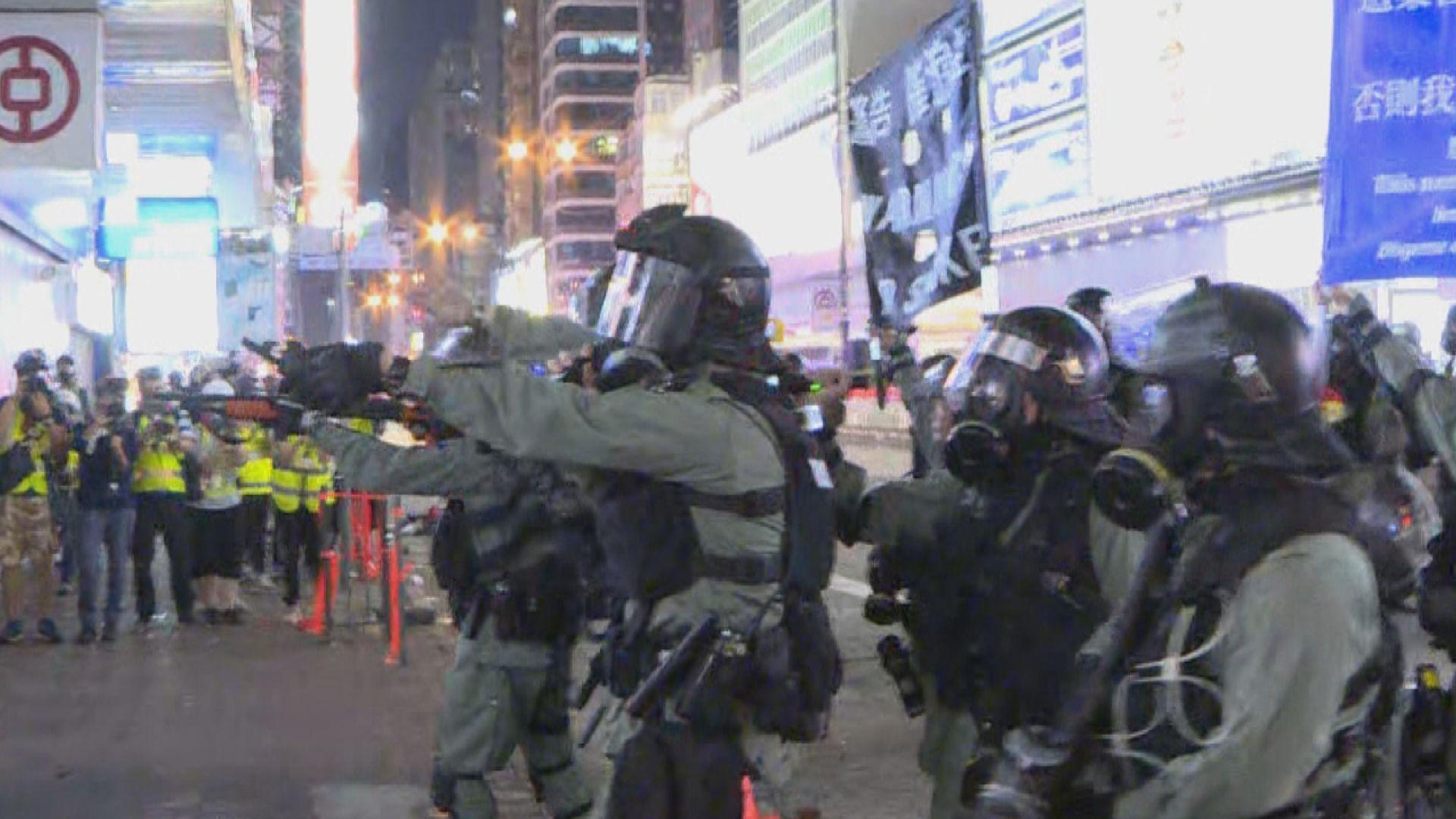 旺角示威者午夜未有散去 警多次出動驅散