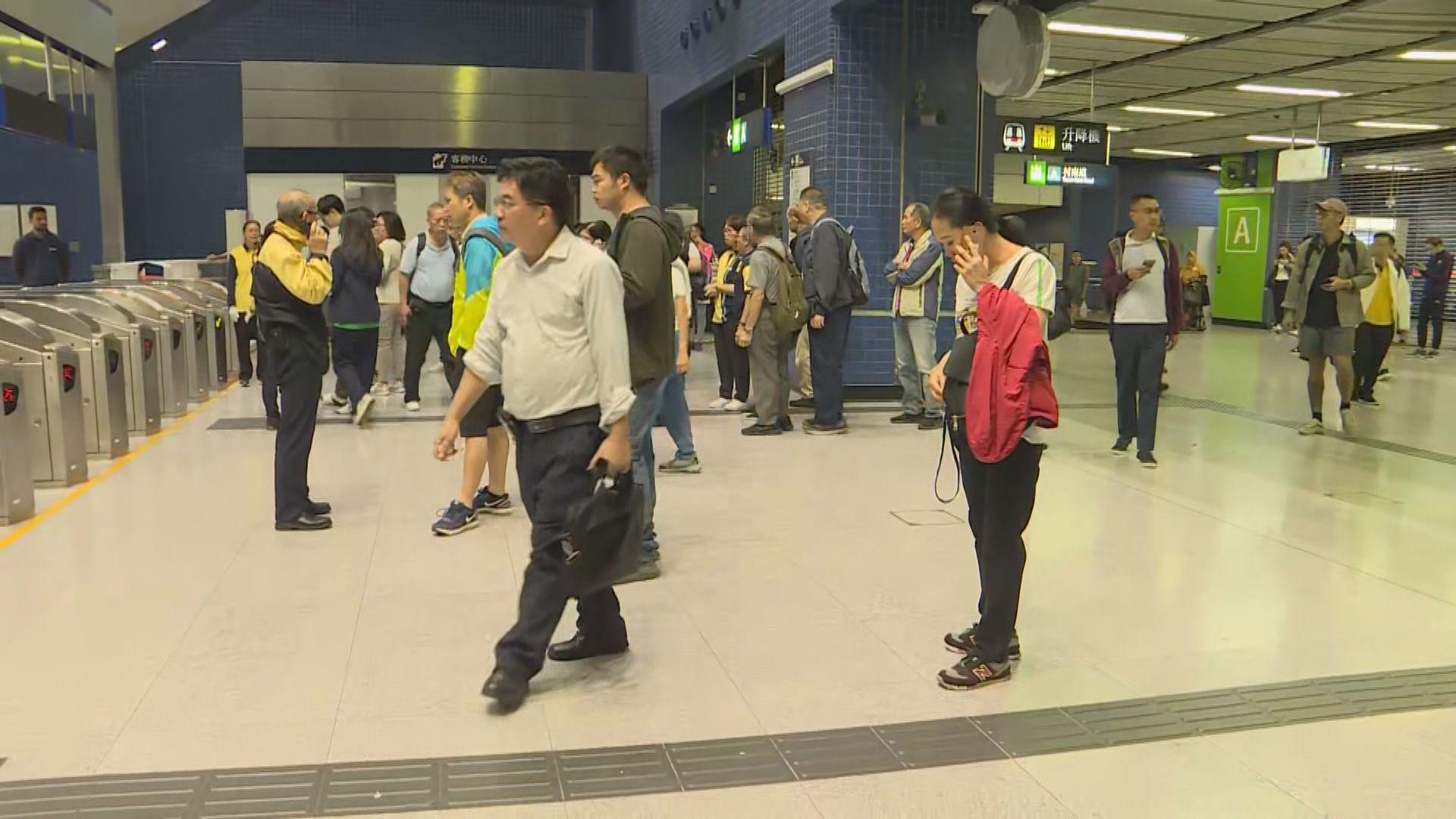 港鐵指因應突發情況 東鐵綫及多個車站服務