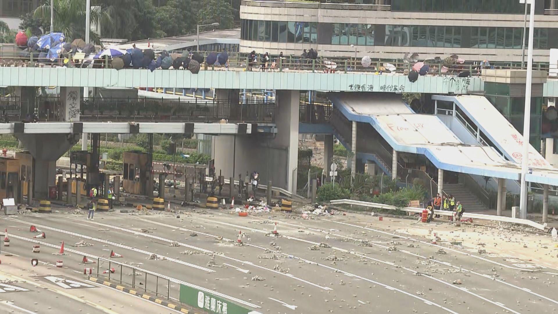 紅隧來回線仍然被阻塞封閉