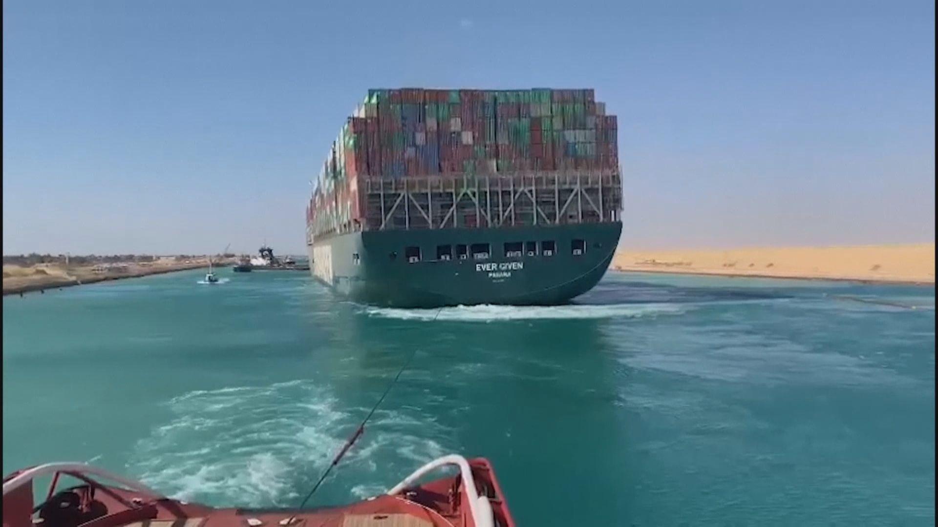 據報貨輪擱淺埃及蘇彝士運河前曾異常加速