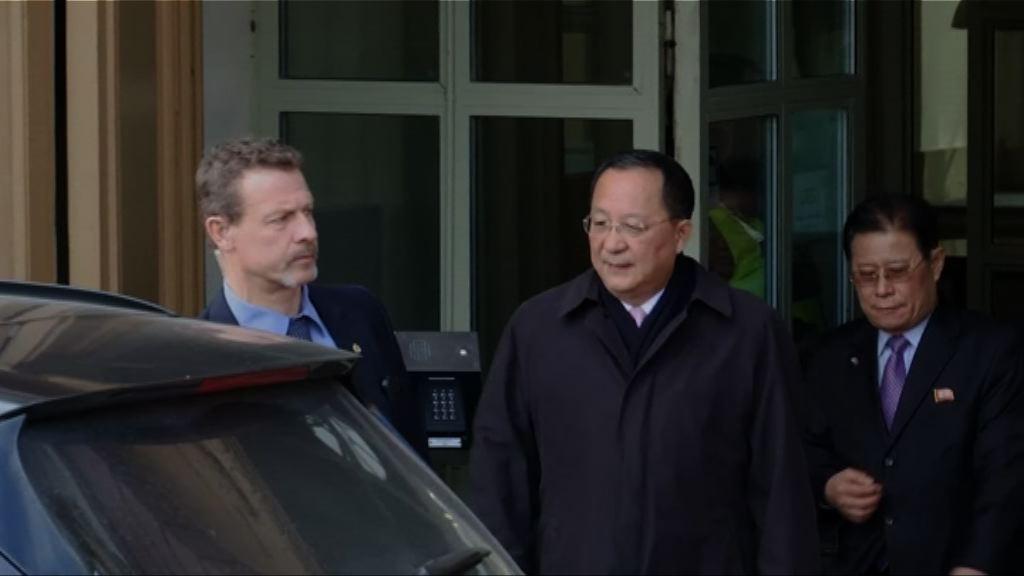 北韓外長李勇浩與瑞典外相會談結束