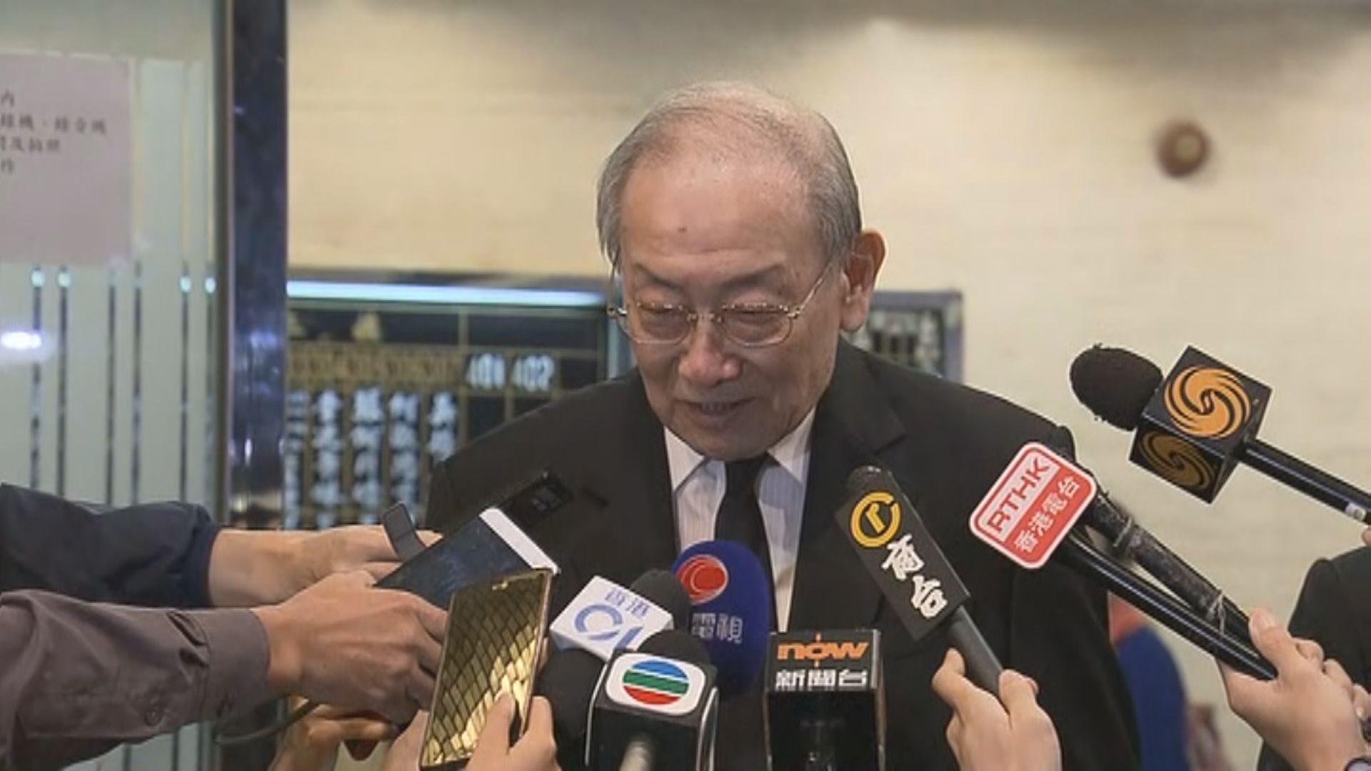 李鵬飛形容鍾士元是香港之子