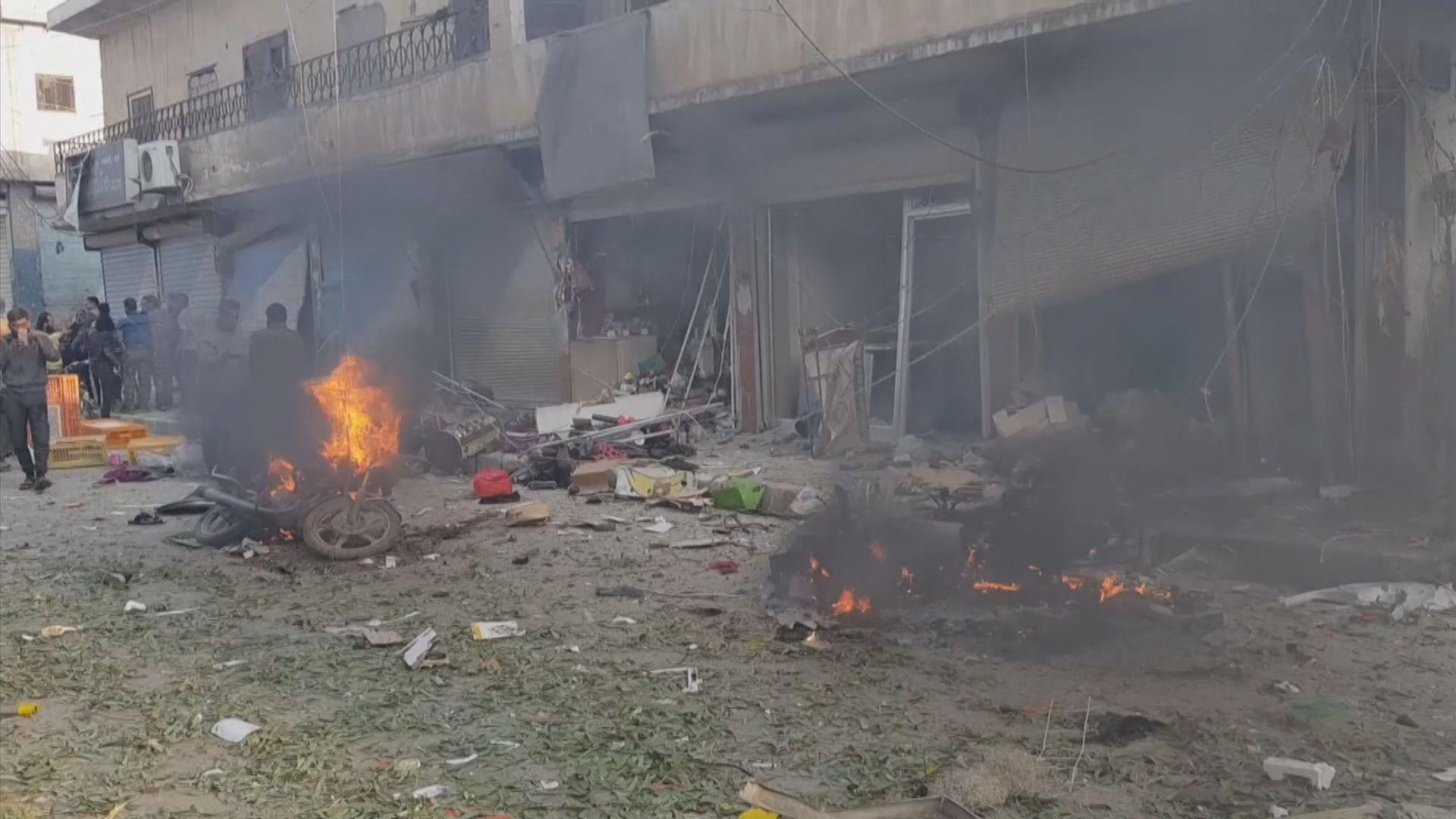 敘利亞北部市集汽車炸彈襲擊13死