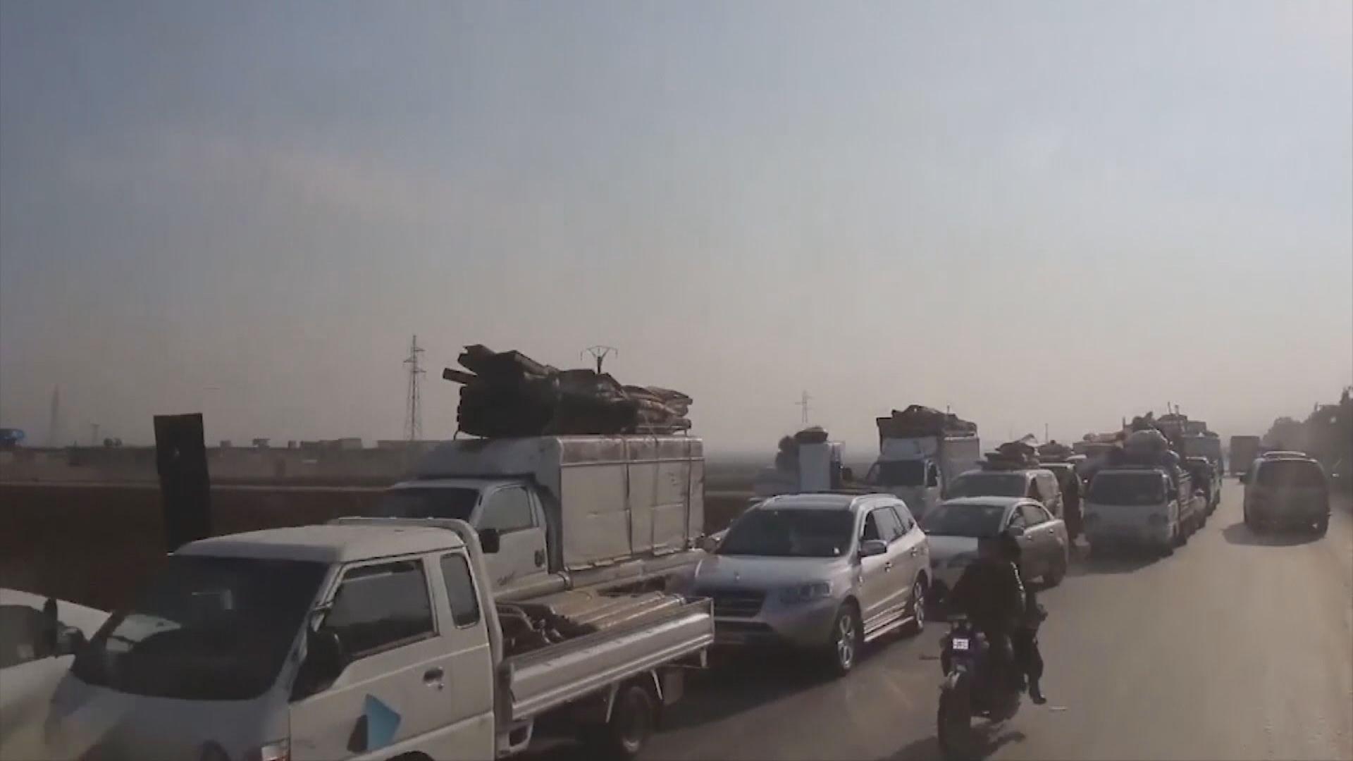 敘利亞伊德利卜省逾23萬人離家逃避戰火