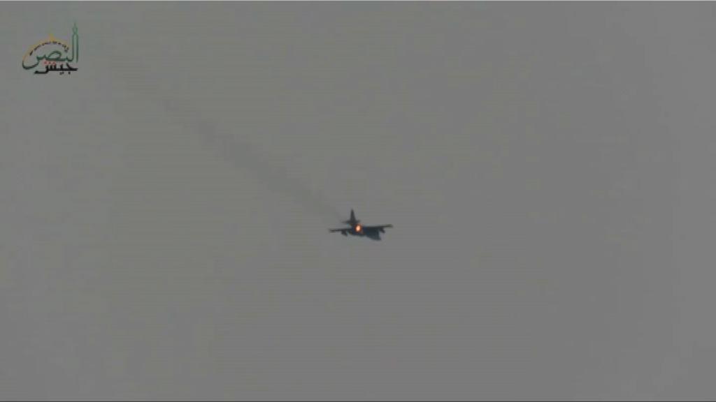 俄軍機在敘利亞被武裝分子擊落