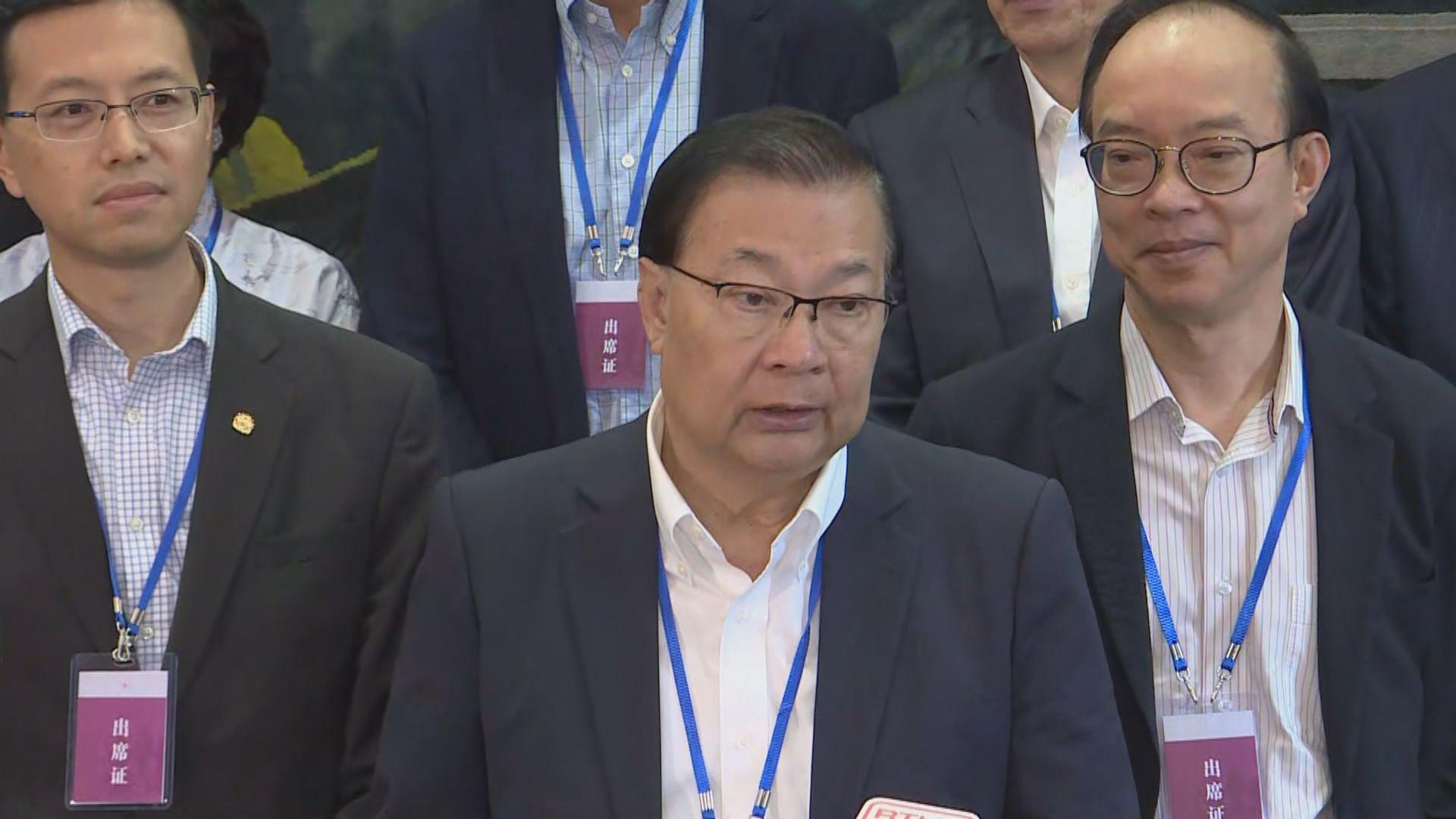 譚耀宗引述張曉明指要「止暴制亂」