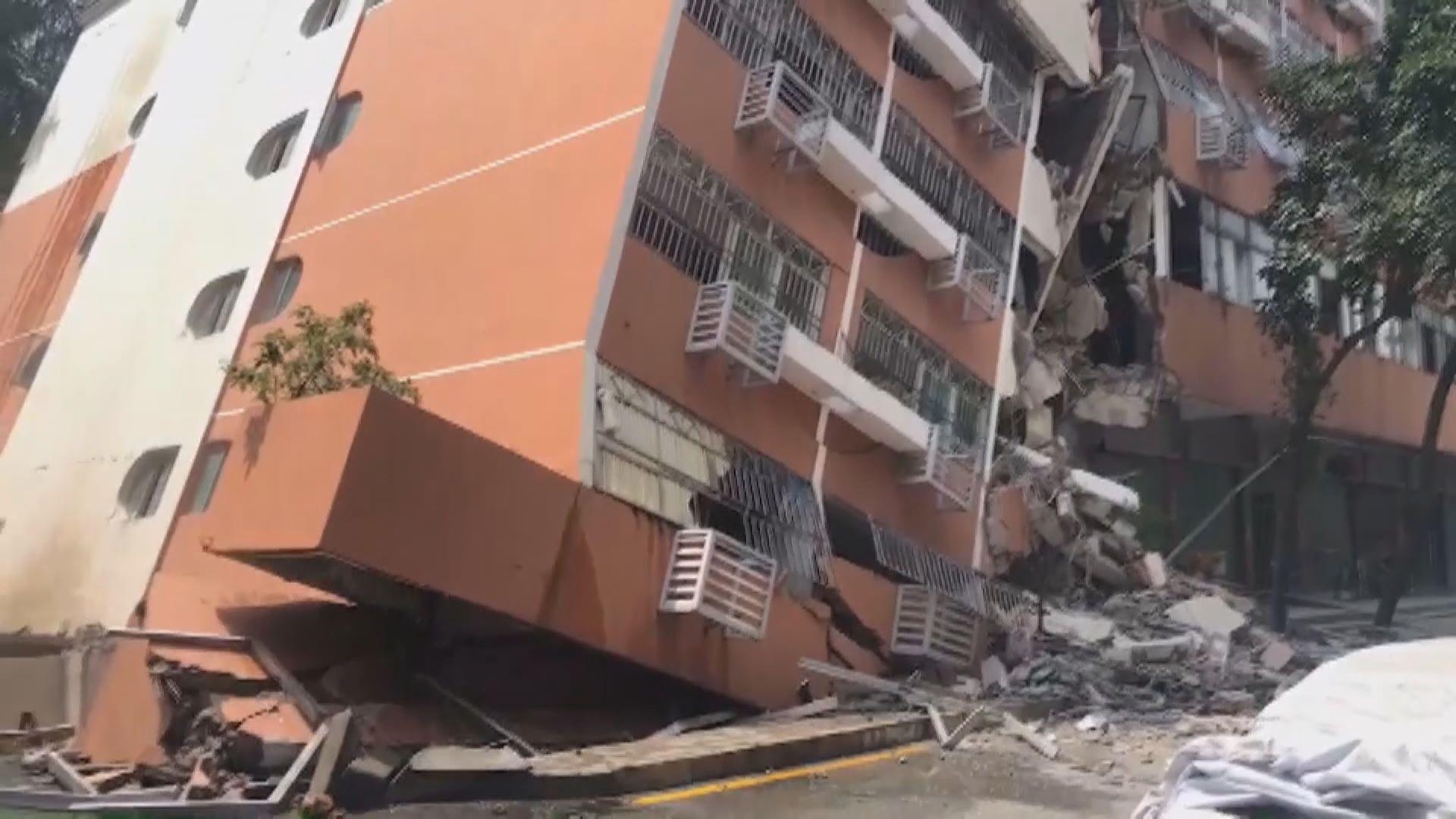深圳羅湖六層高住宅倒塌傾斜無人傷