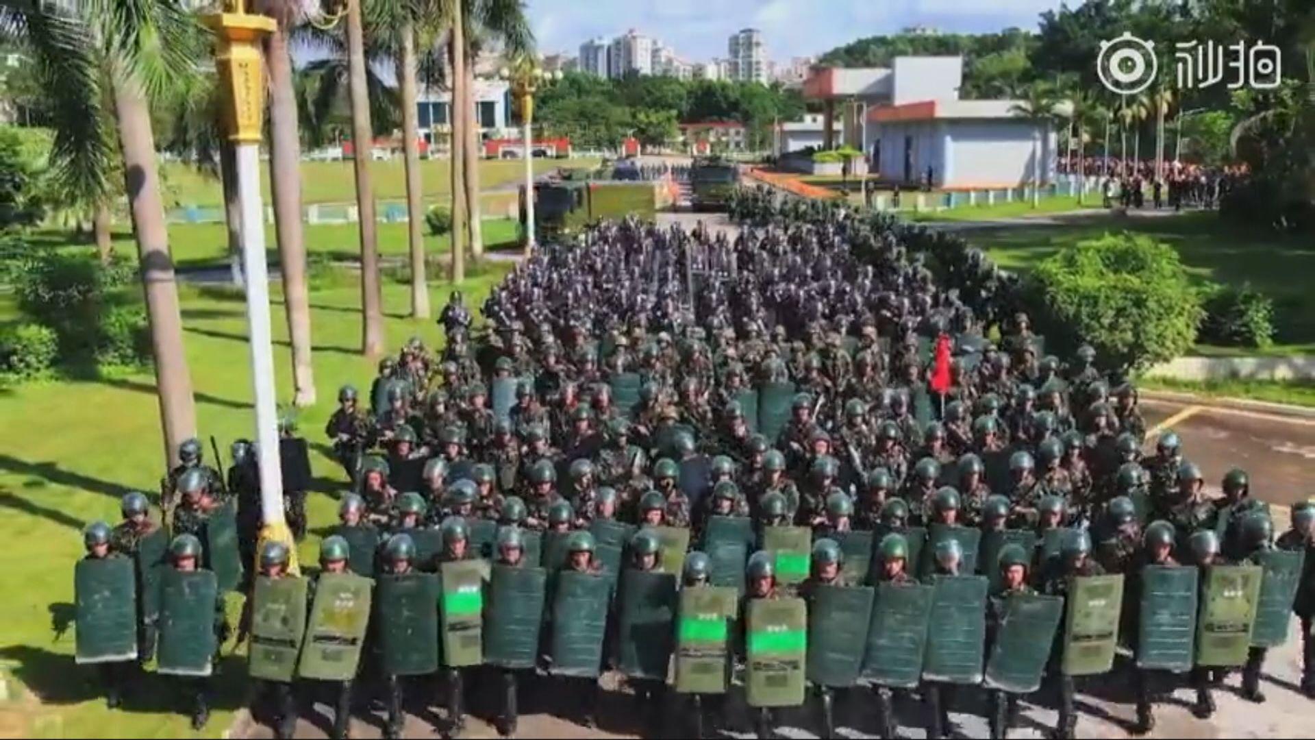 深圳多次進行針對「暴亂」的演練