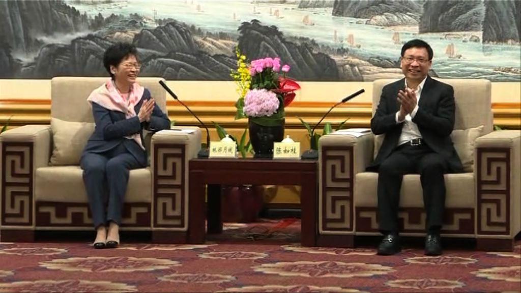 林鄭邀深圳市領導出席高鐵西九總站開通儀式